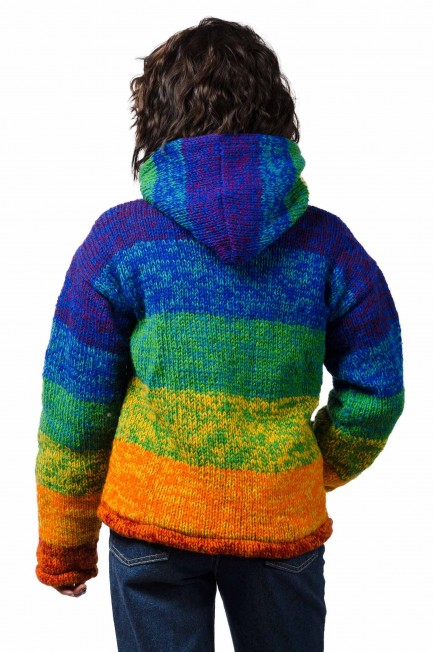 Wool Himalayan Mountain Jacket Rainbow