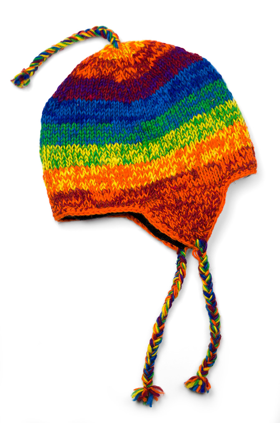 Wool Rainbow Sherpa Hat