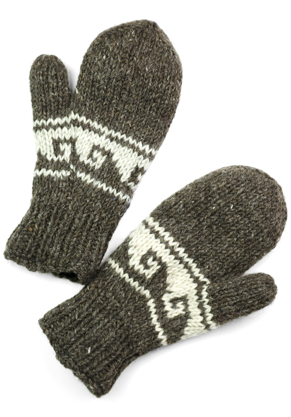 Natural Brown Mittens