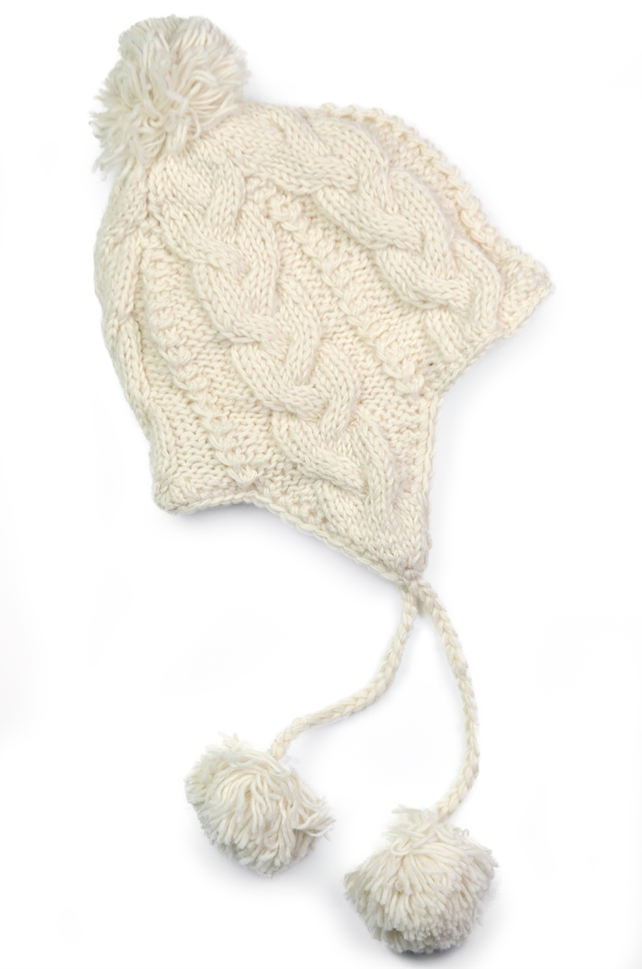 Wool Cable Knit Sherpa Hats