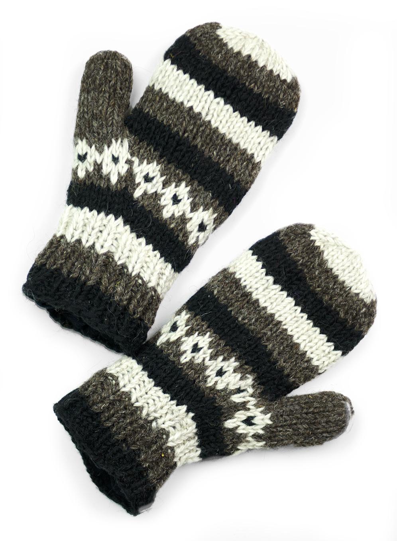 Wool Vintage Striped Mittens