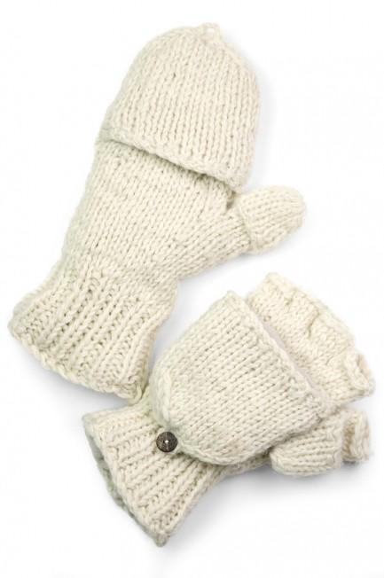 Wool Solid Glittens