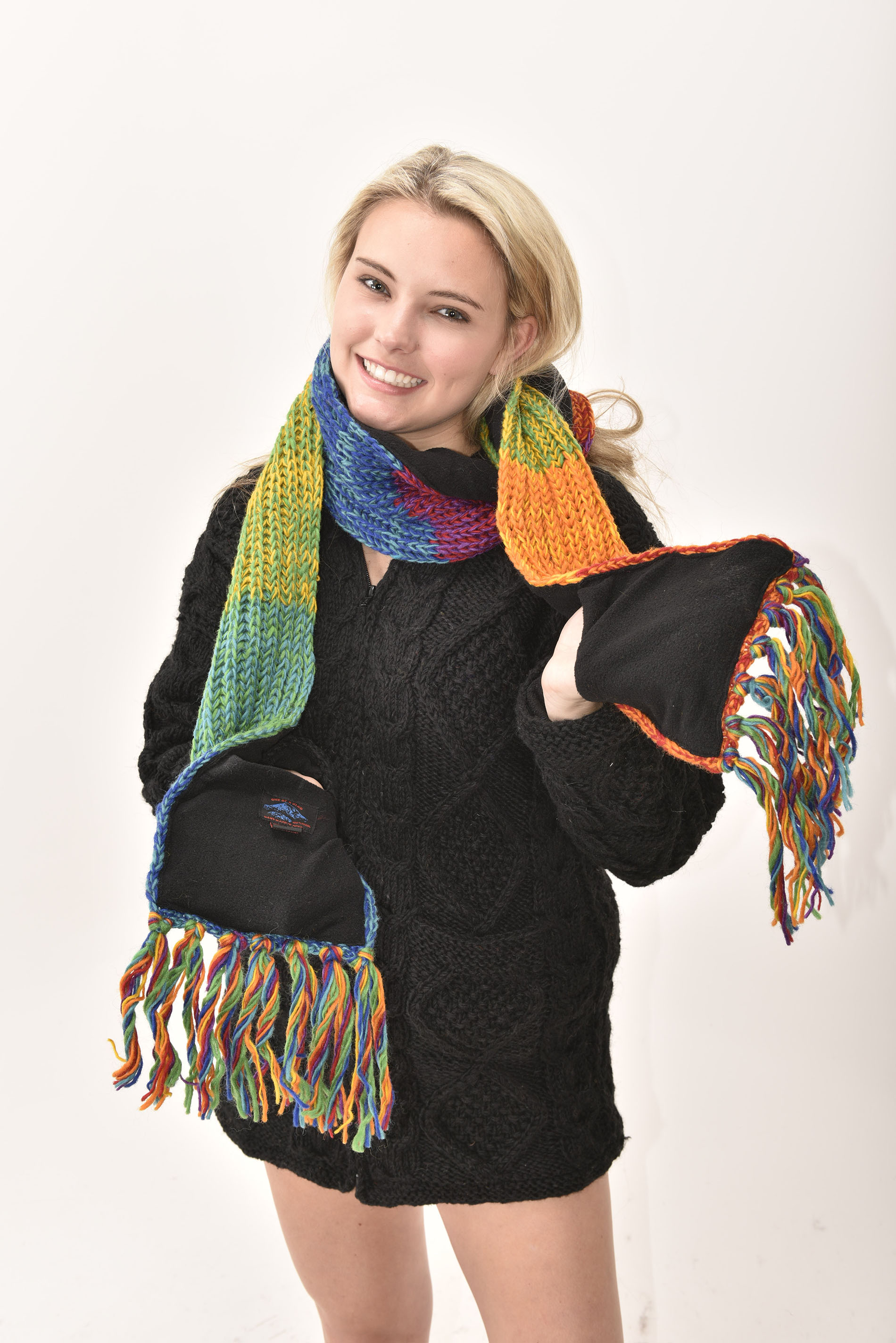 Scarf Striped, Rainbow