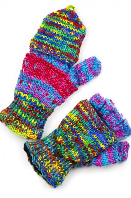 Wool Striped Glittens