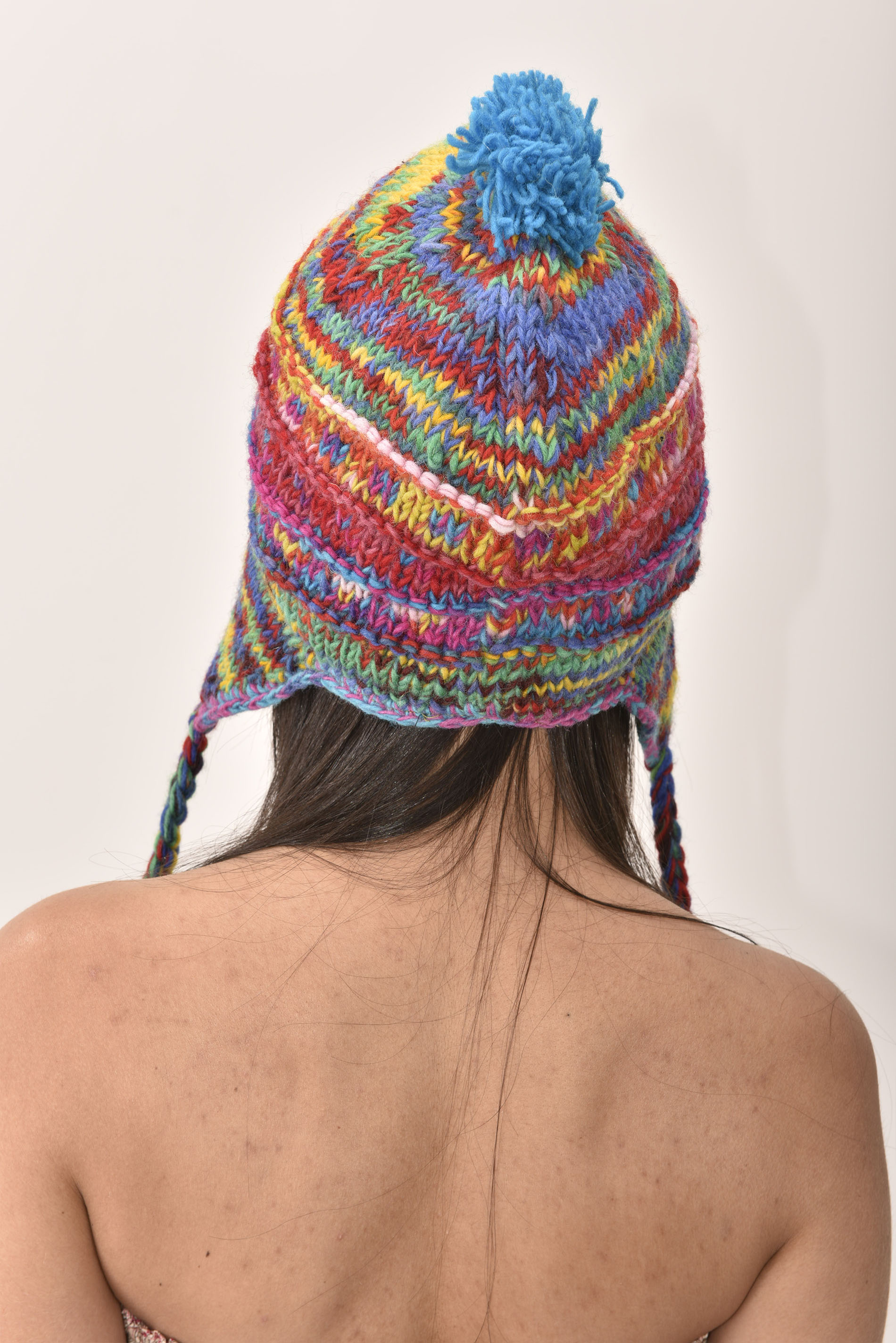Sherpa Hat Striped, Primary Colors
