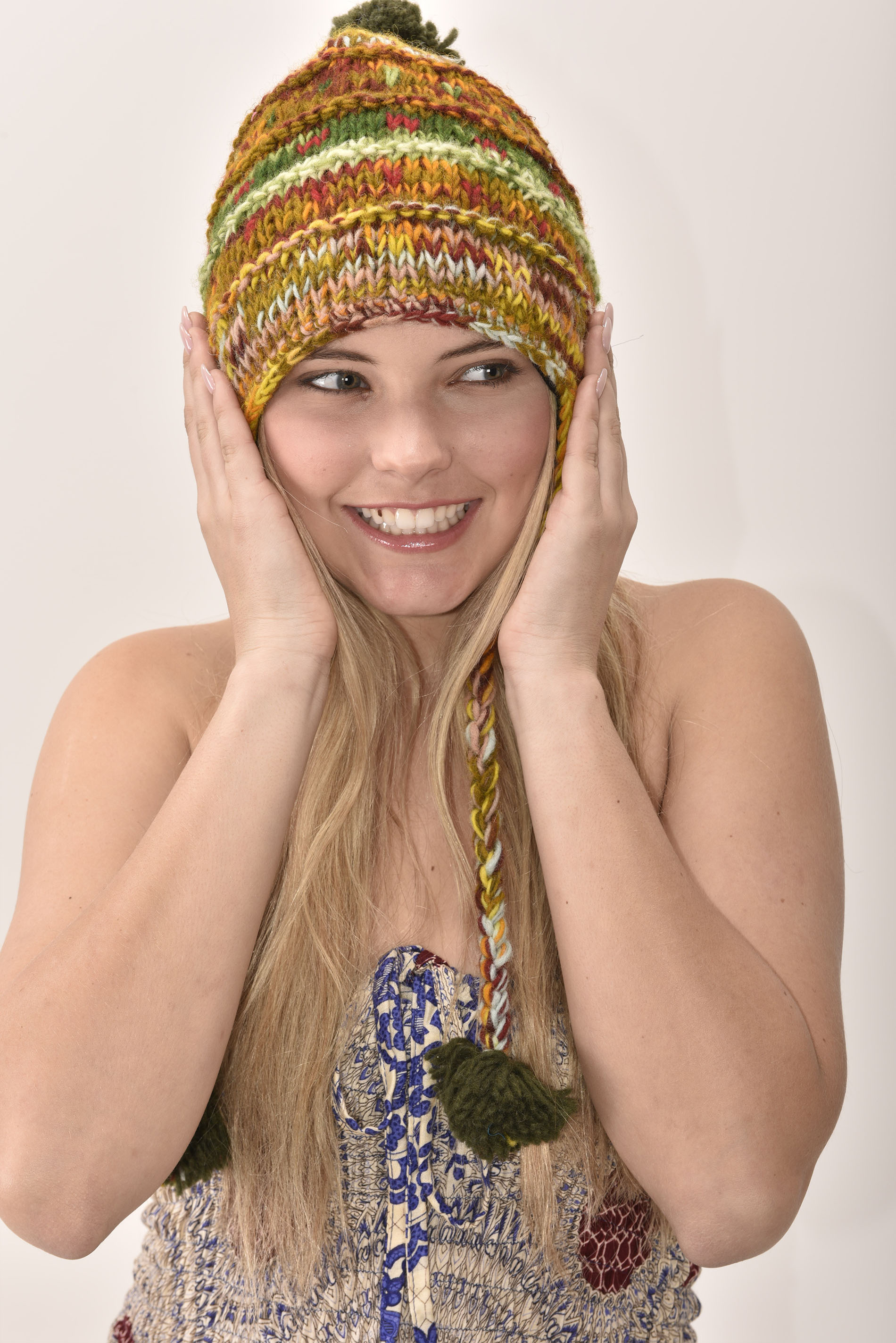 Striped Earthy Colors Hat