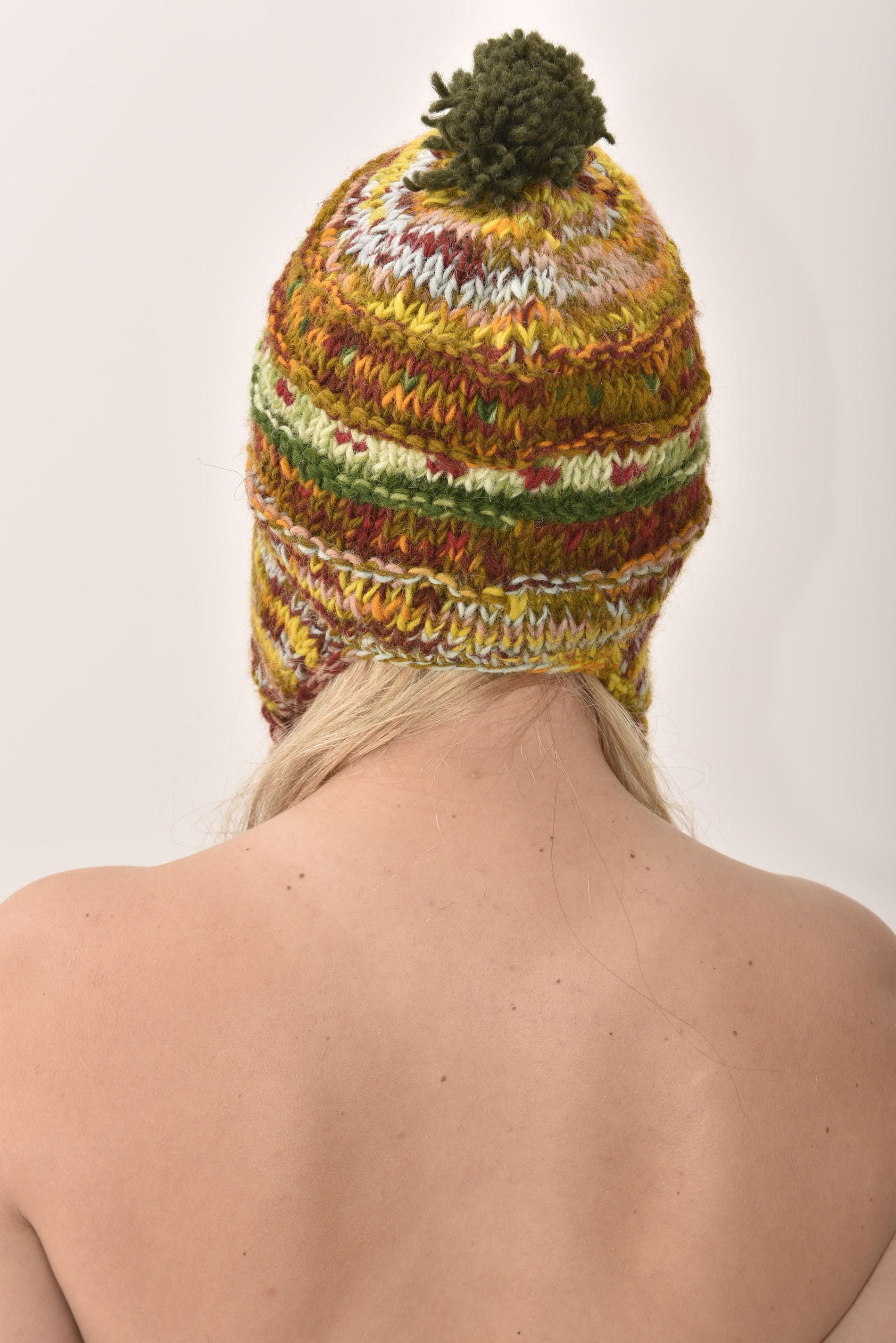 Sherpa Hat Striped, Earthy Colors
