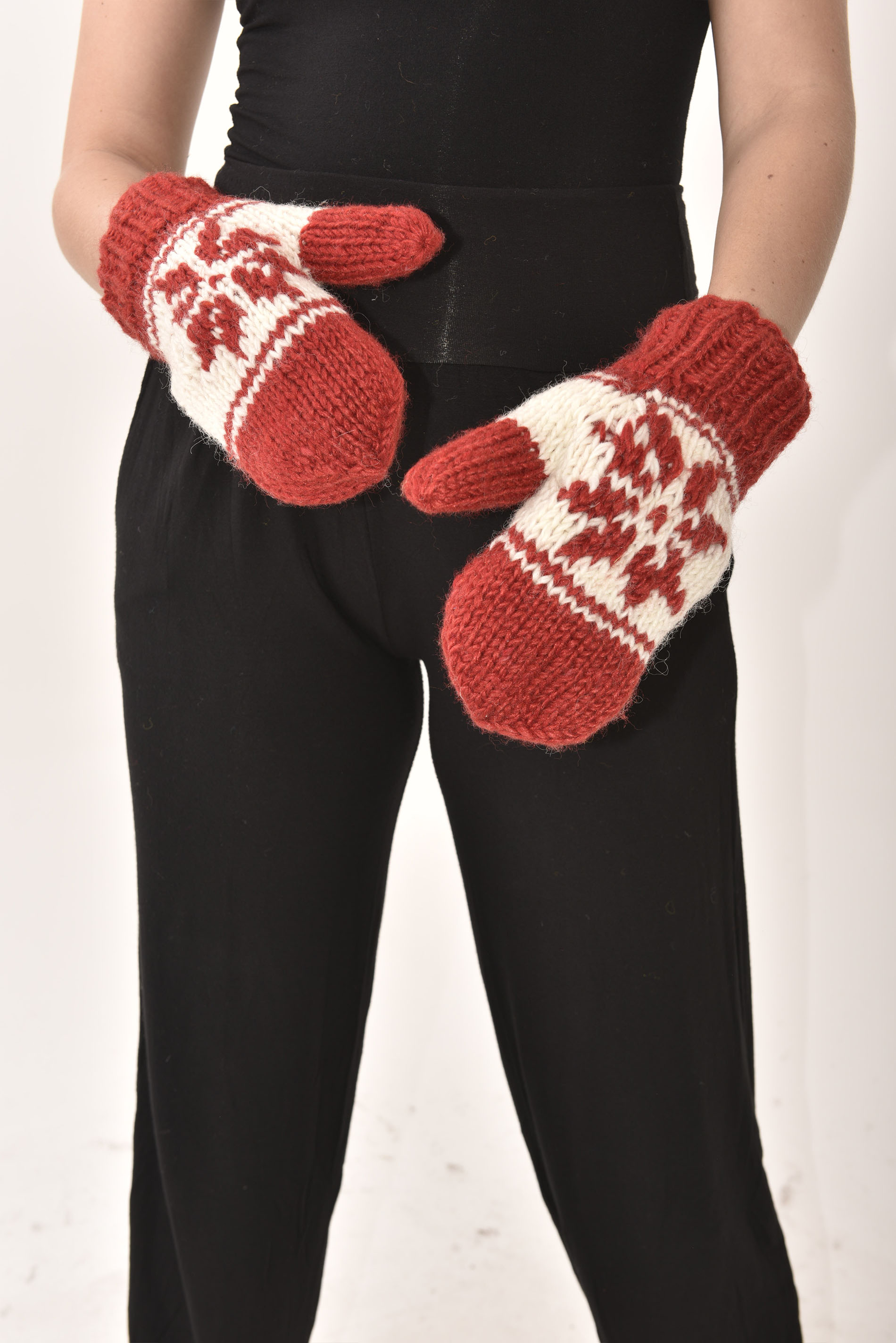 Mittens Snowflake, Red