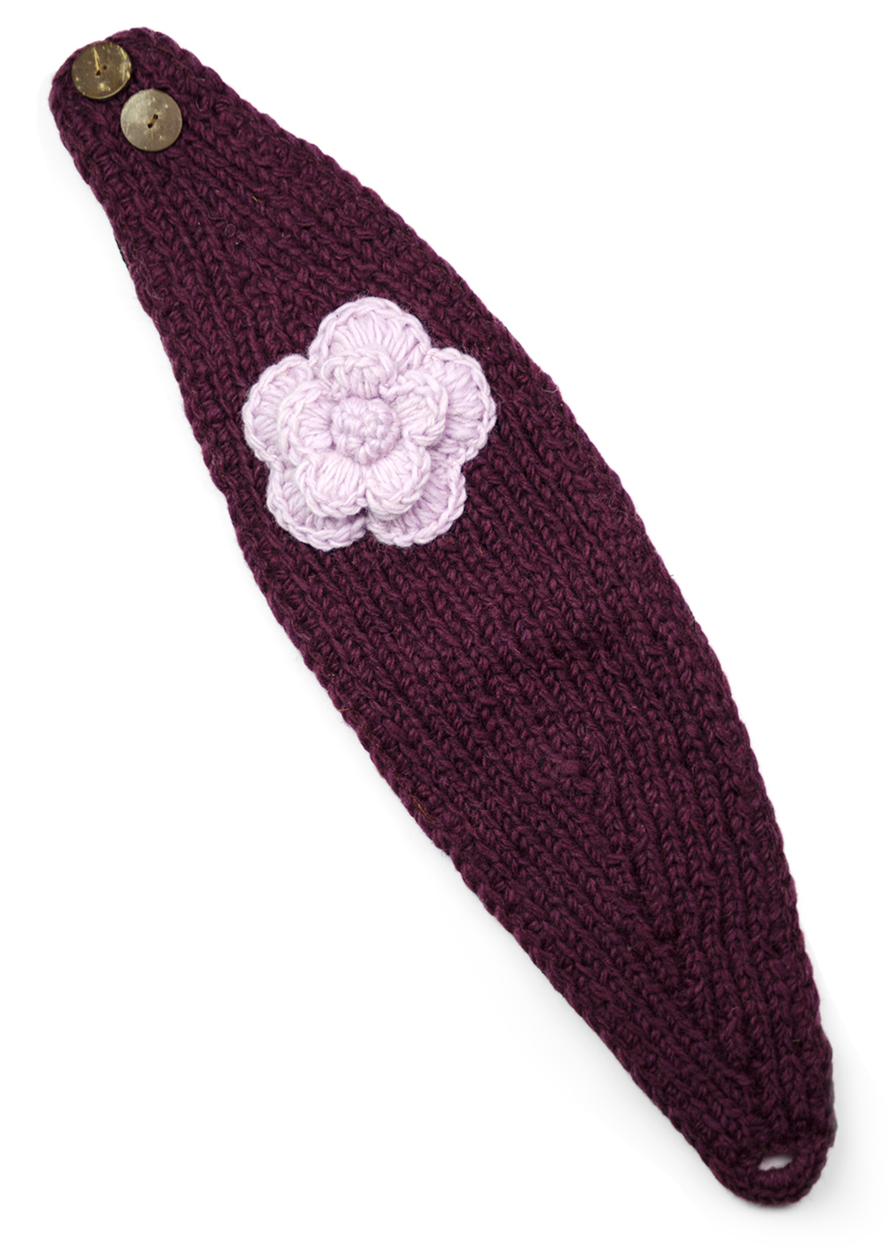 Wool Flowery Headbands