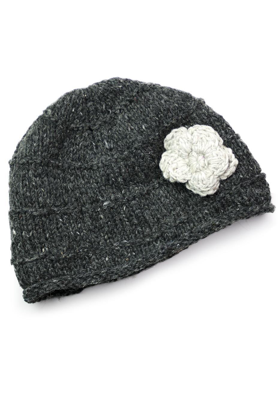 Charcoal & Natural Hat