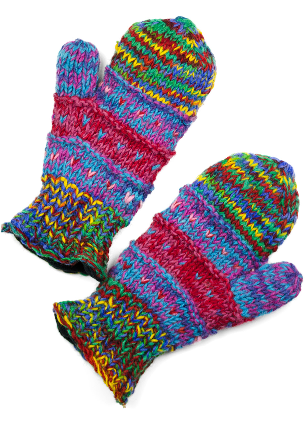Multi-Primary Colors Mittens