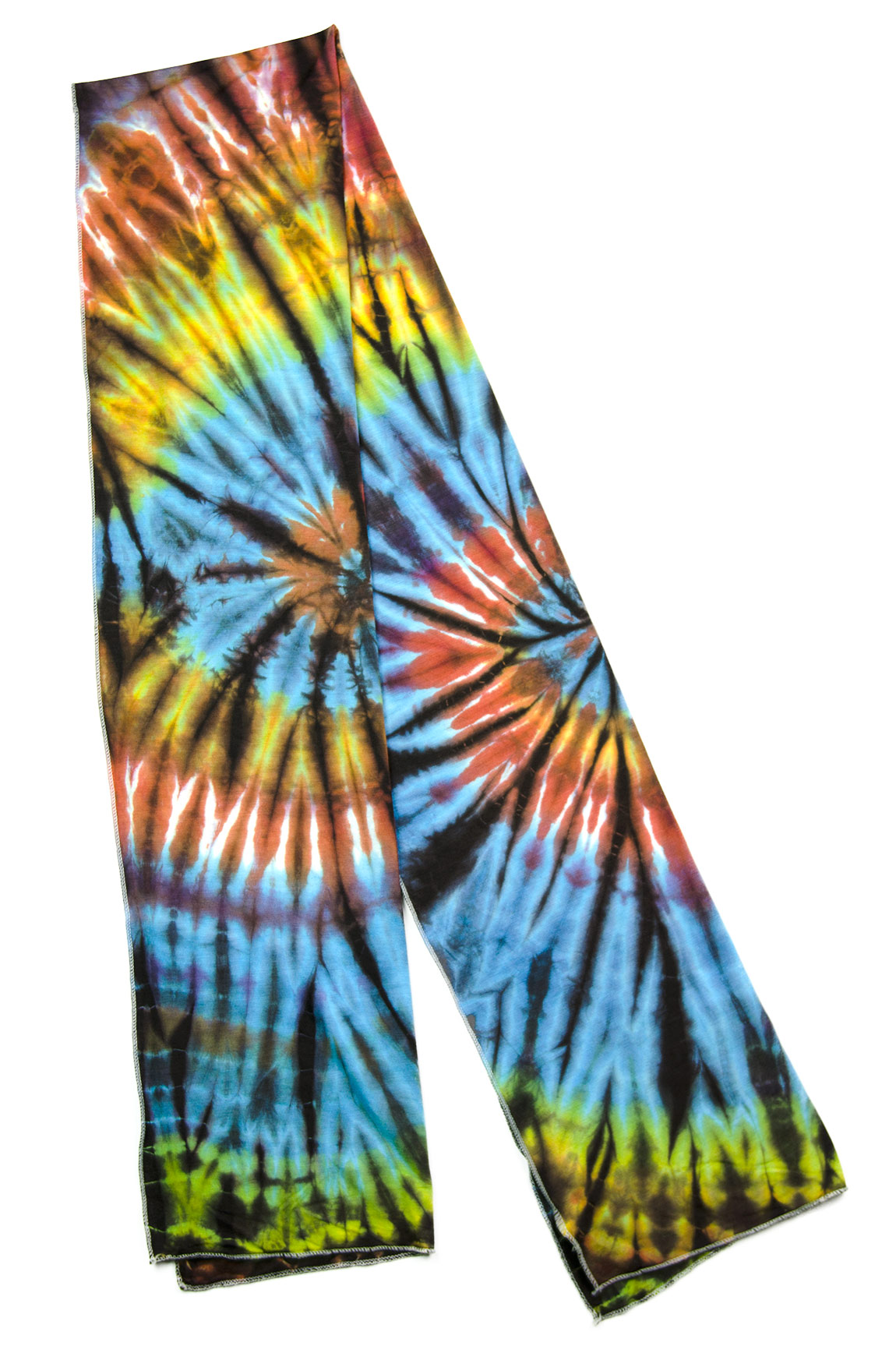 Hand Painted Tie Dye Scarf Rainbow-Multi