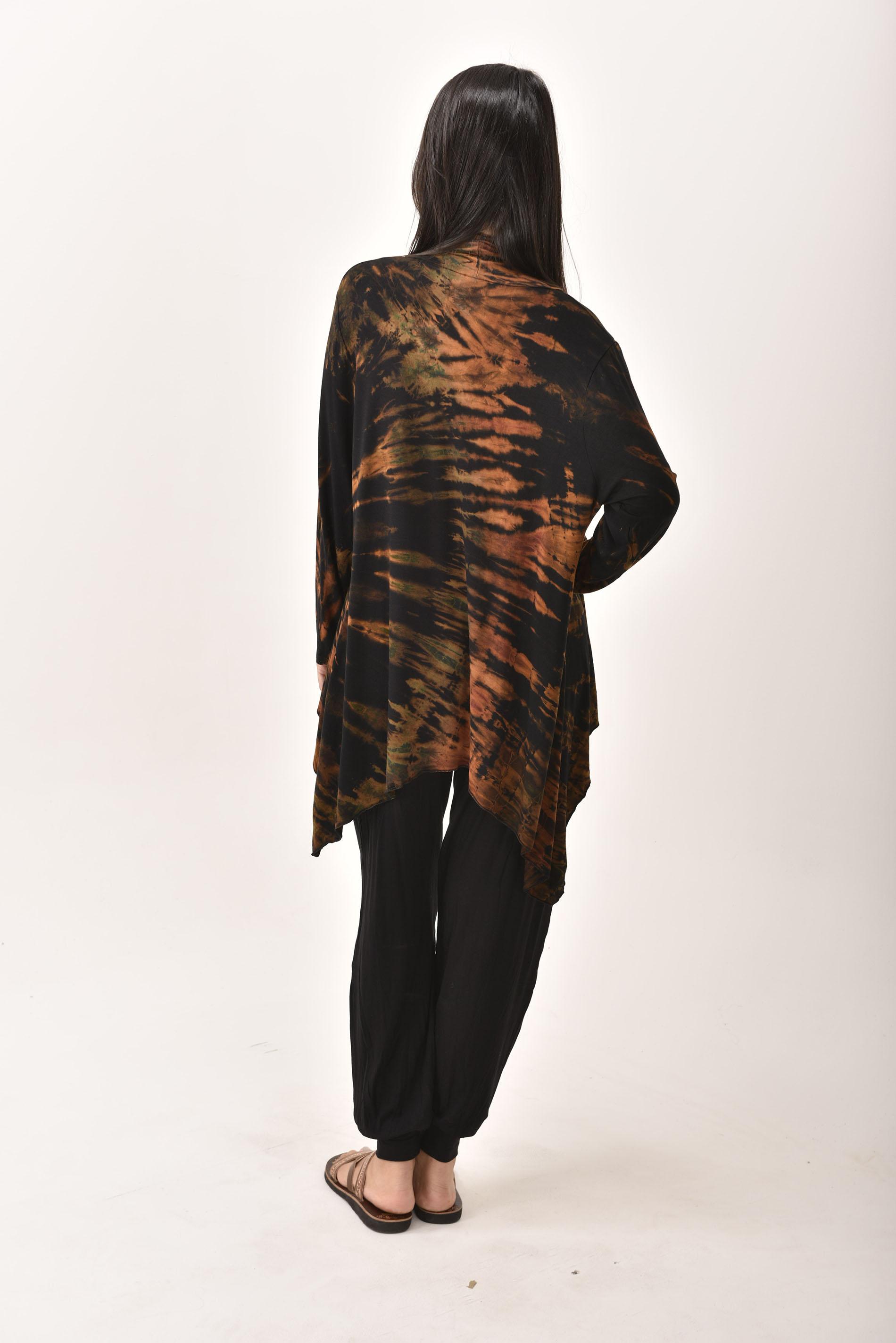 Kimono Cardigan Hand Painted Tie Dye - Everything Multi