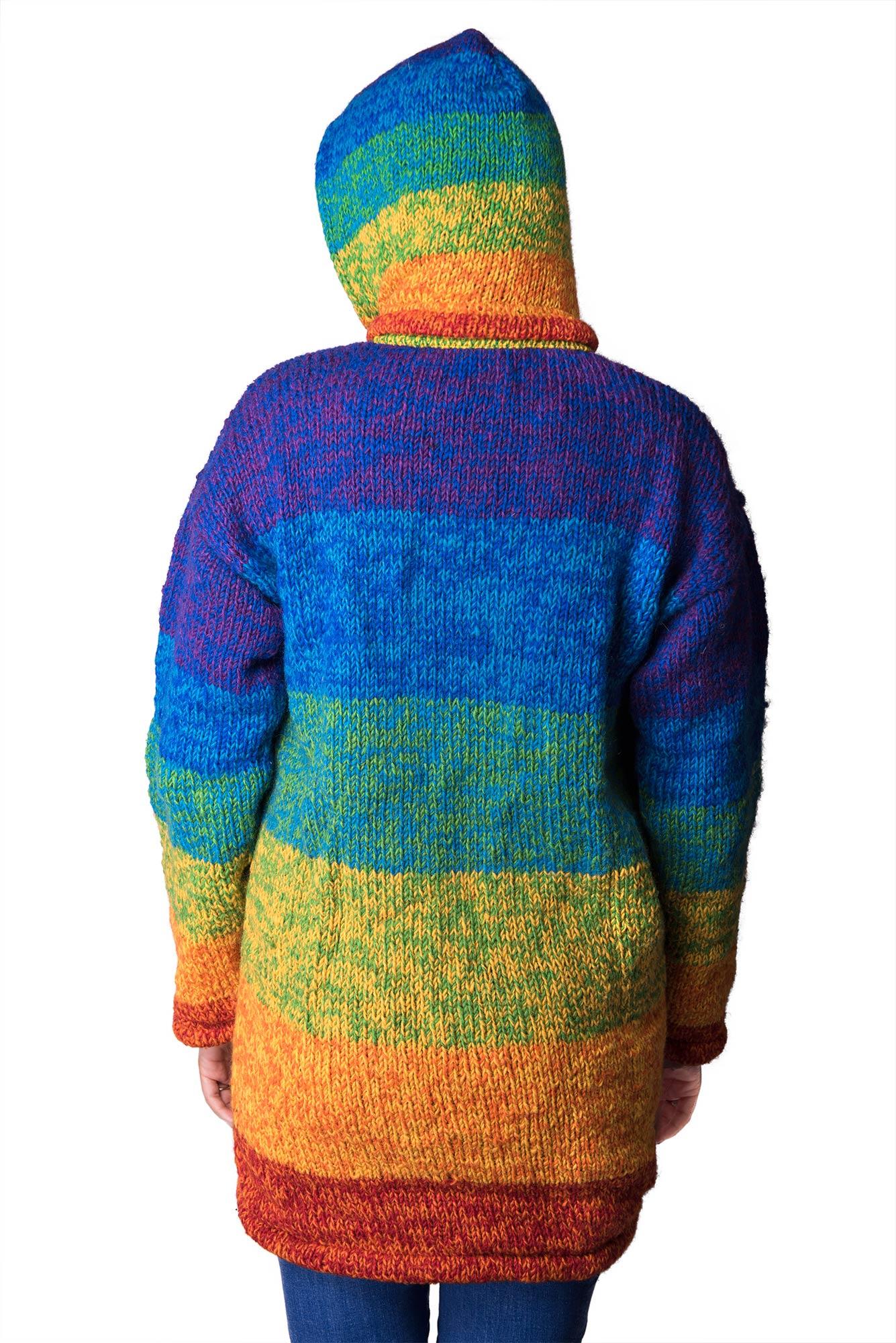 Wool Himalayan Mountain Jacket – Long Length Rainbow