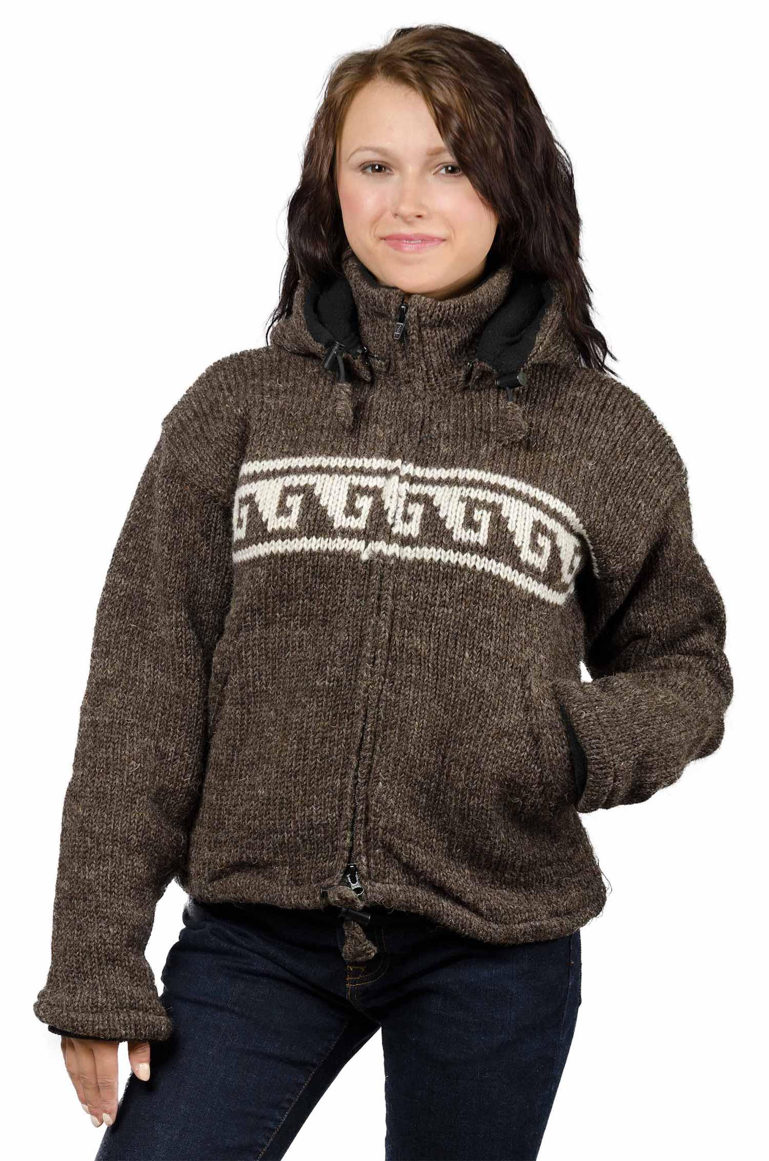 Wool Himalayan Mountain Jacket Natural Brown