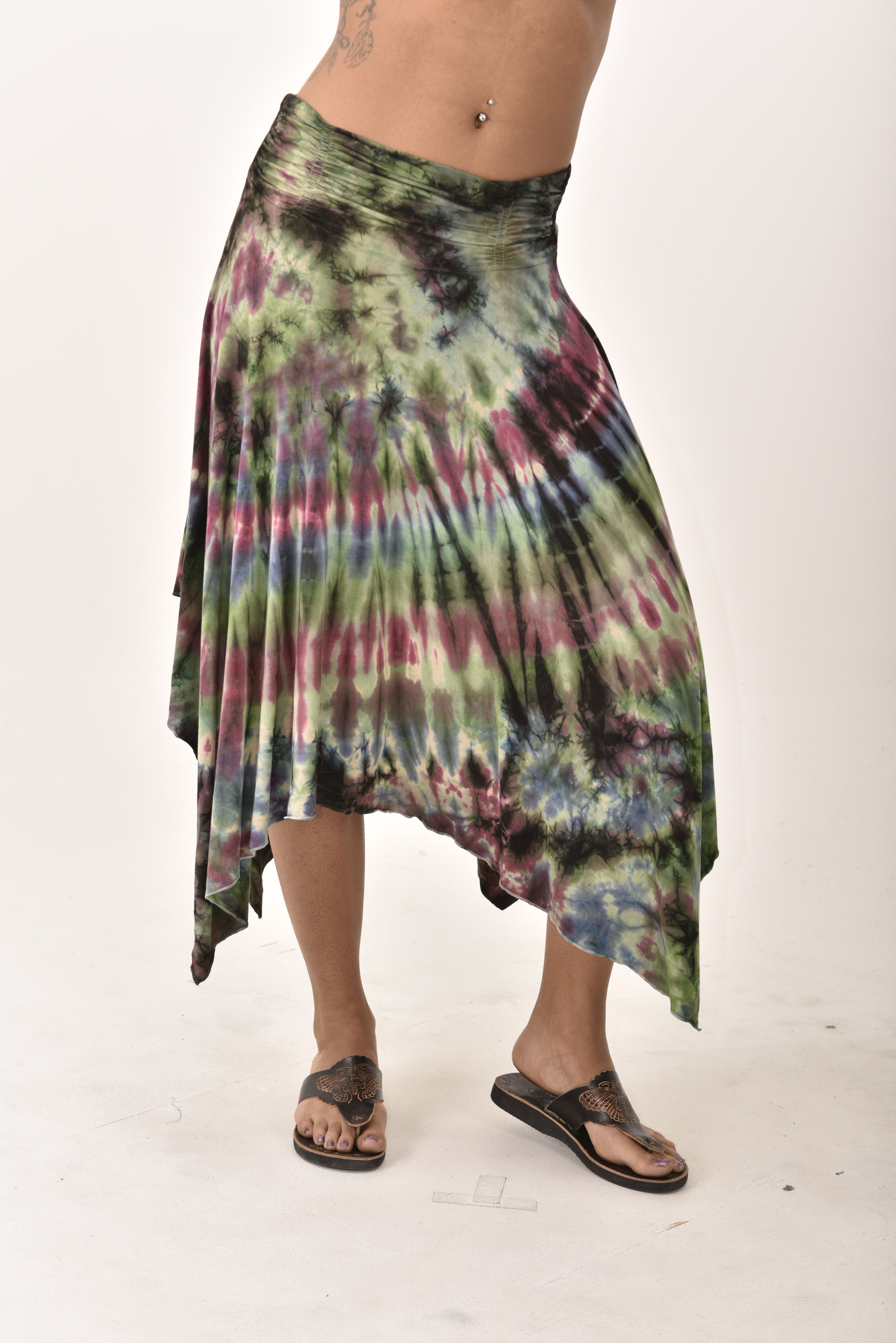 Hand Painted Tie Dye Fairy Skirt  Blue Berry
