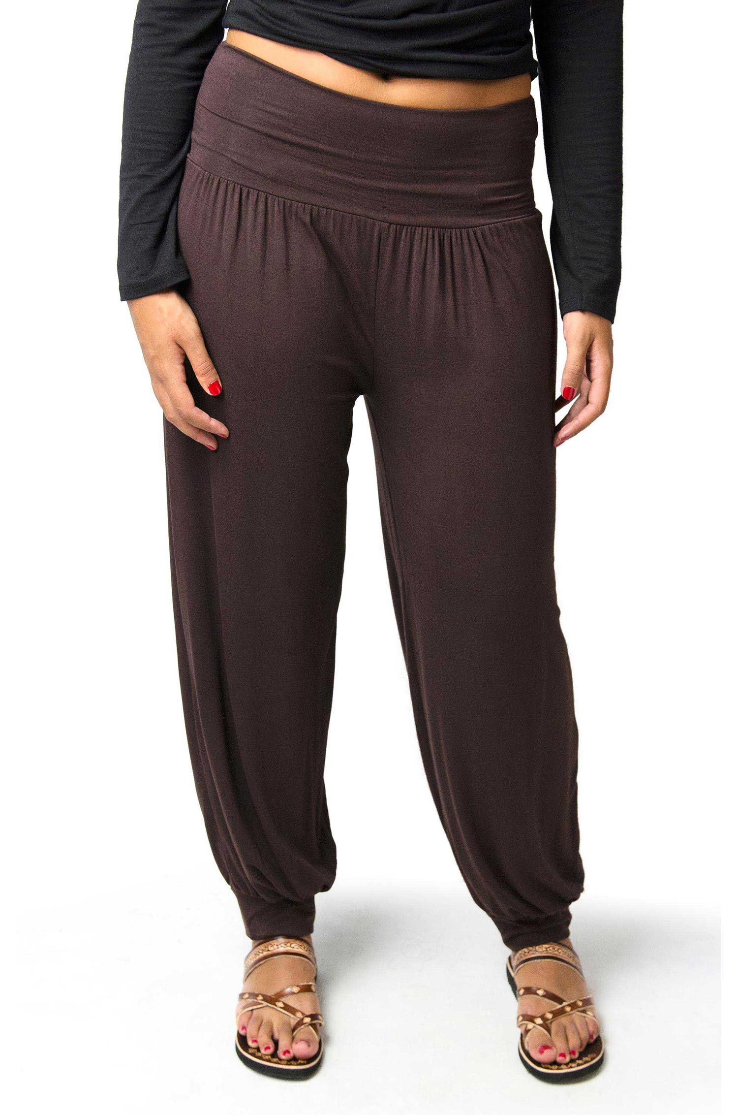 Solid Harem Pants