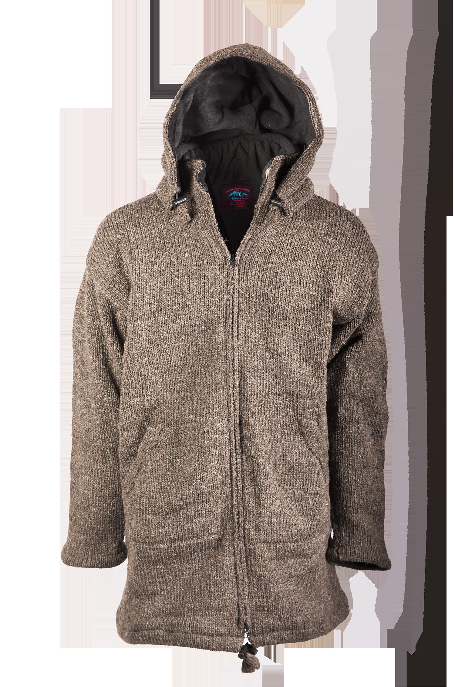 Himalayan Mountain Jacket Long Length, Solid Charcoal