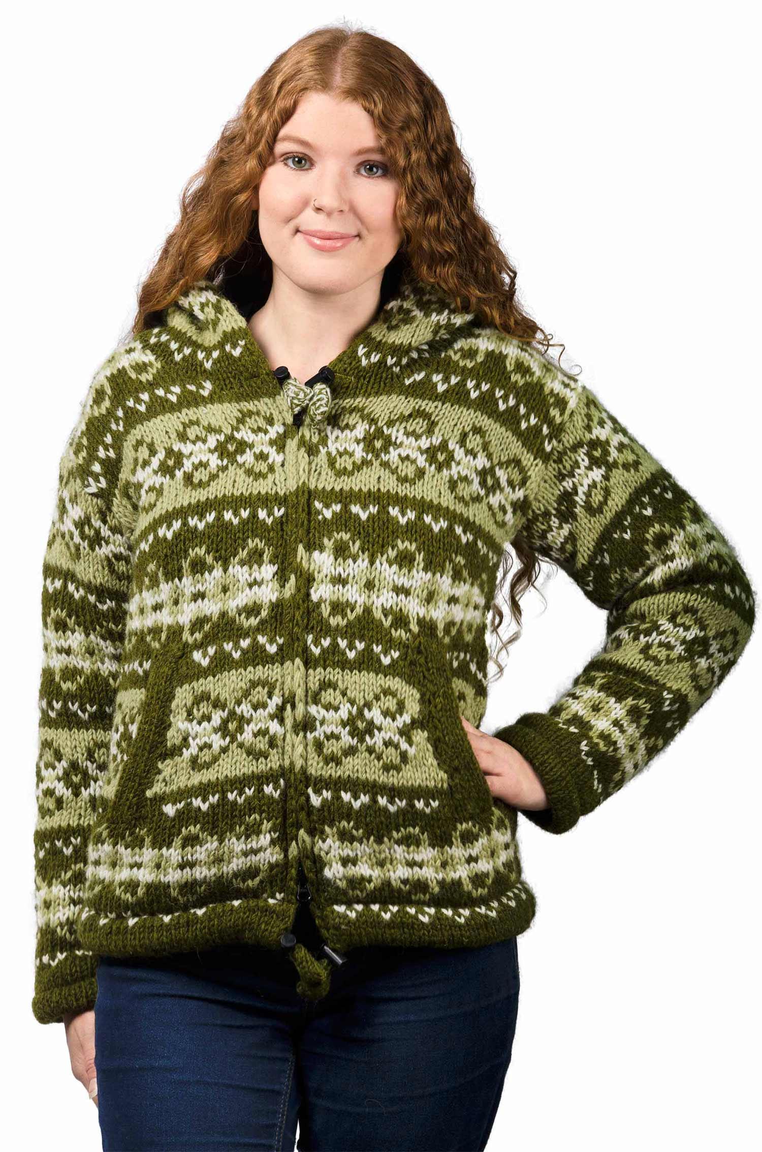 Wool Vintage Himalayan Mountain Jacket Avocado & Olive