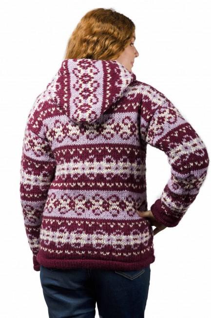 Wool Vintage Himalayan Mountain Jacket Plum & Berry