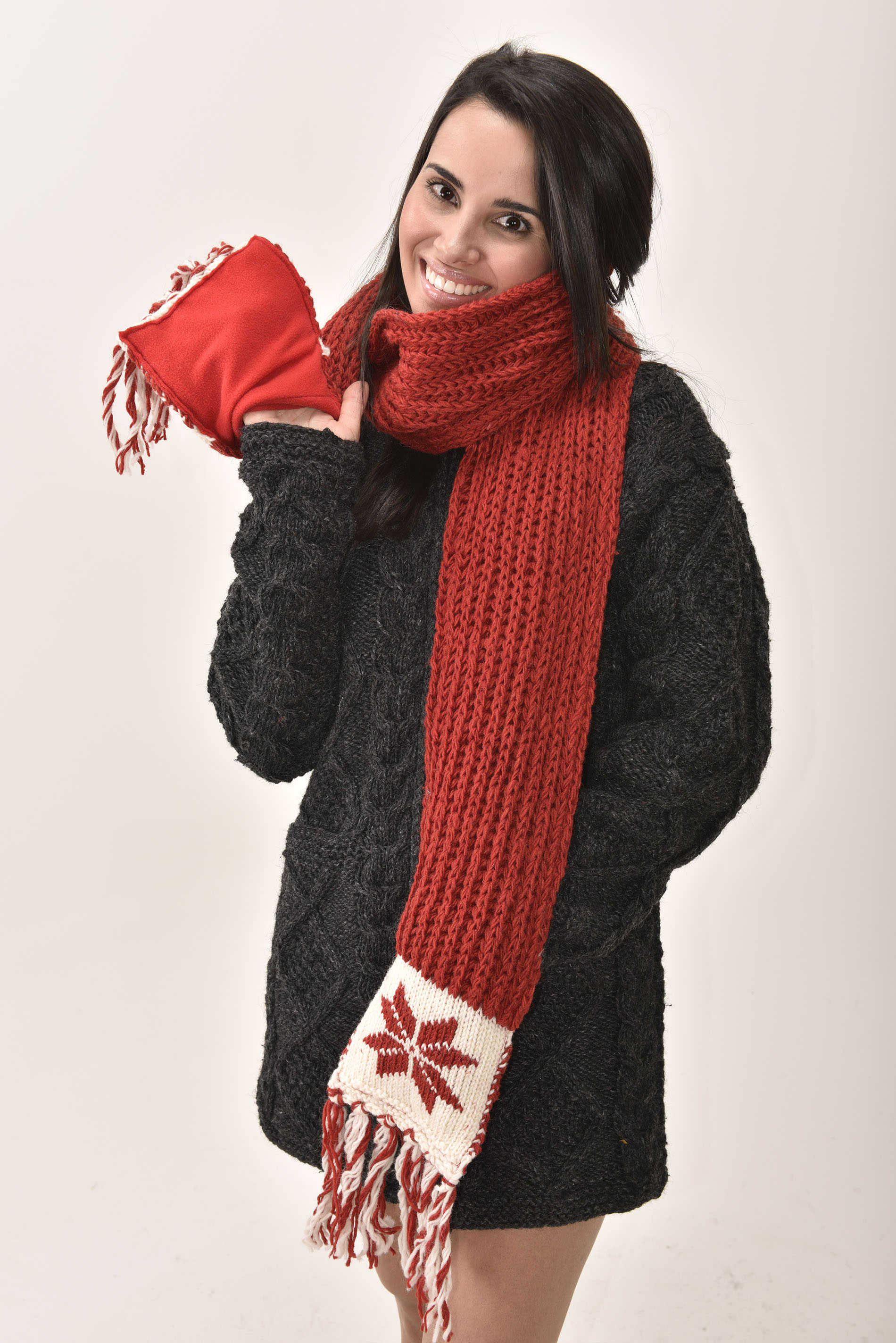 Scarf Snowflake, Red