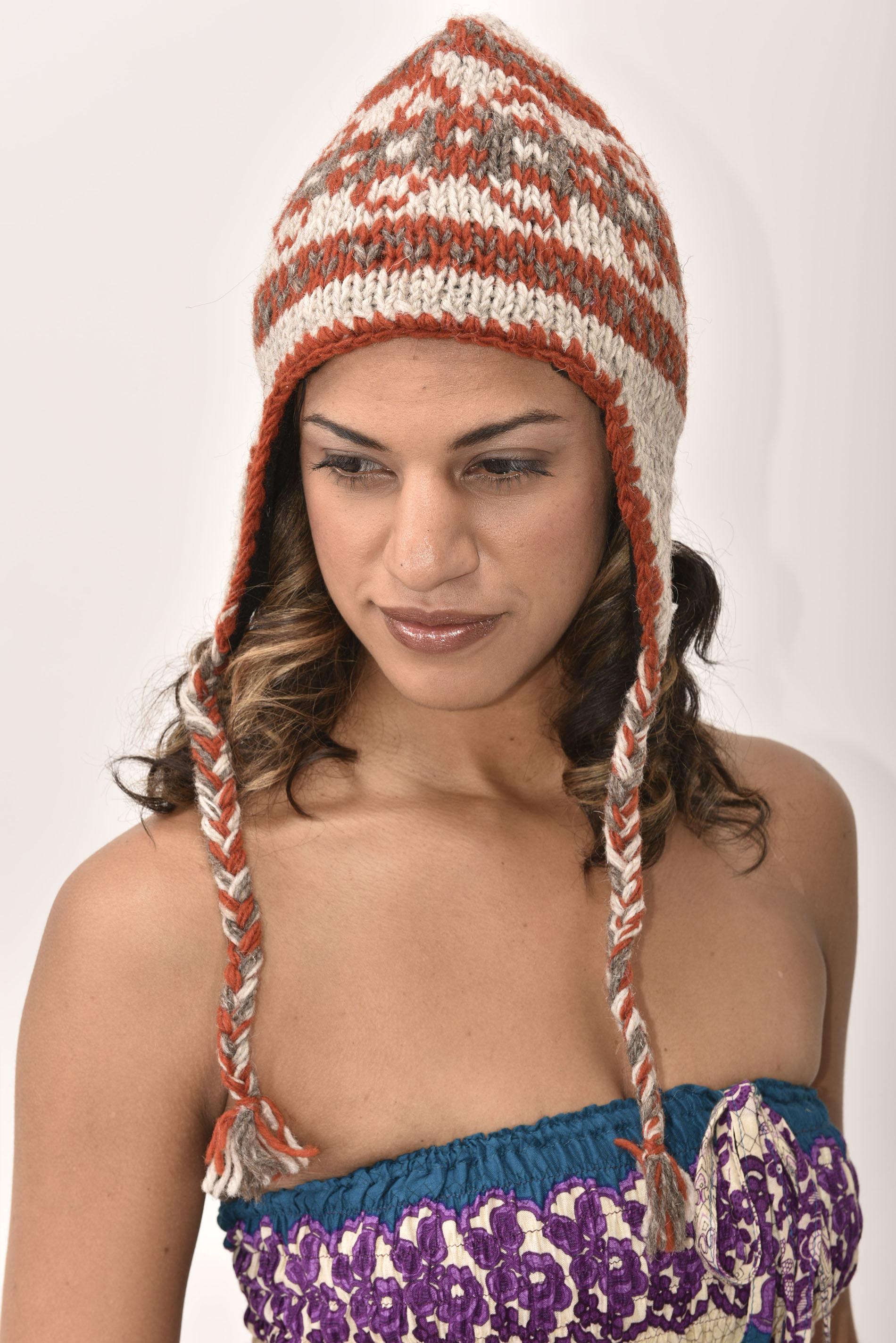 Sherpa Hat Vintage Pattern, Cinnamon