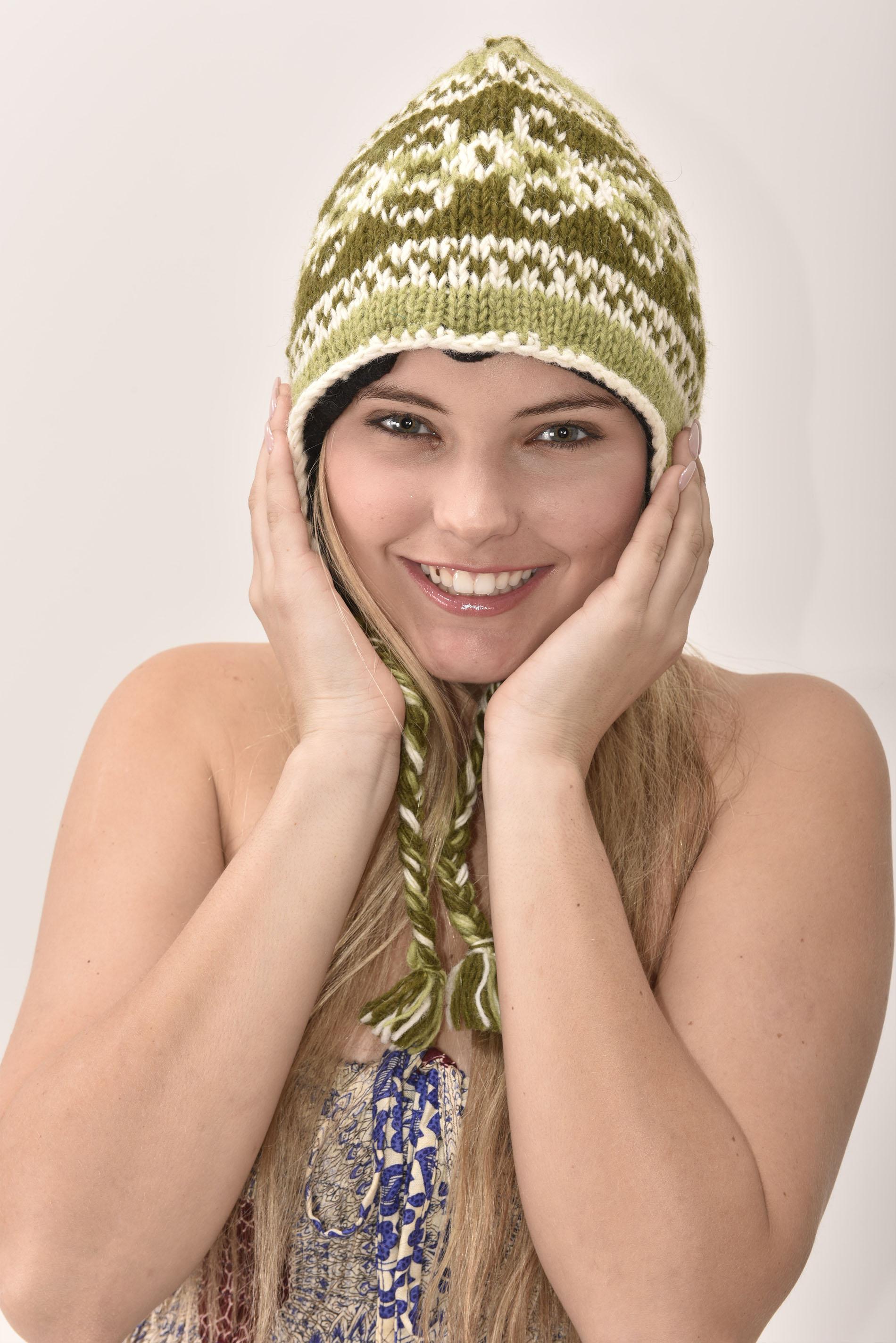 Sherpa Hat Vintage Pattern, Olive
