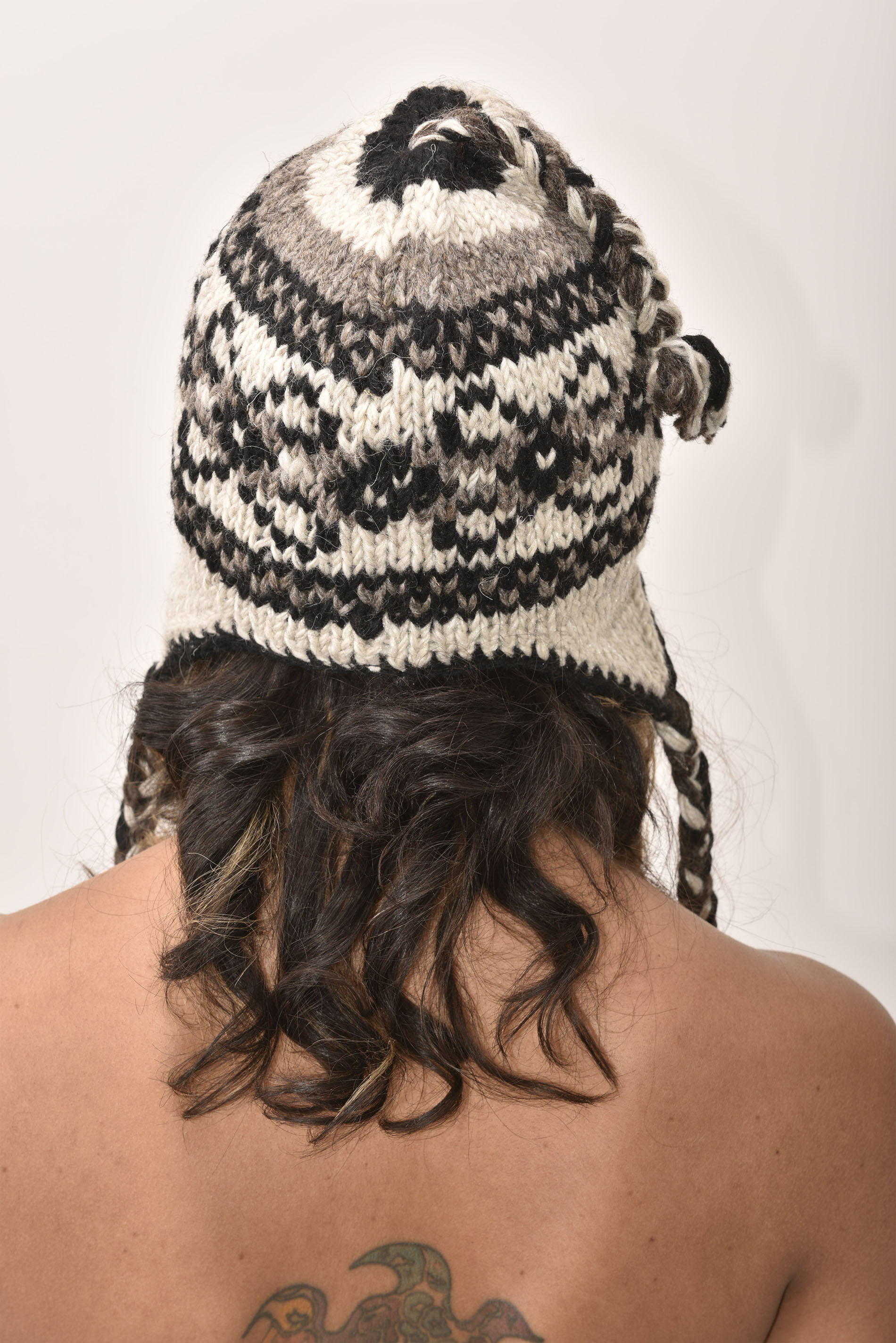 Grey Vintage Pattern Hat