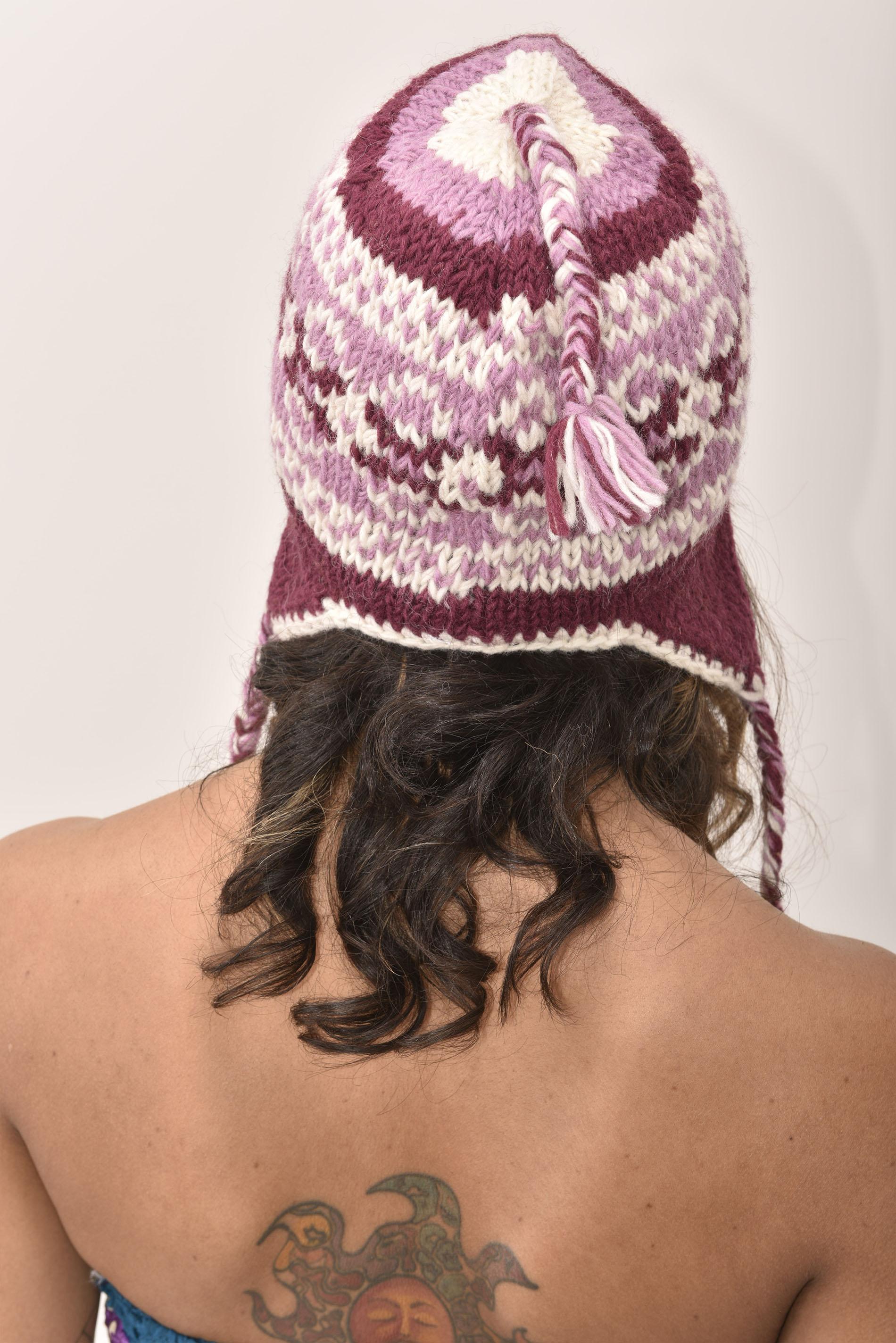 Sherpa Hat Vintage Pattern, Plum