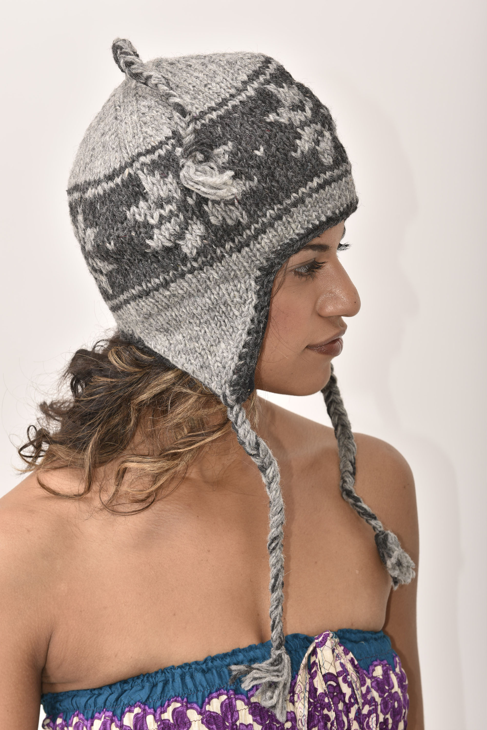 Sherpa Hat Snowflake, Grey