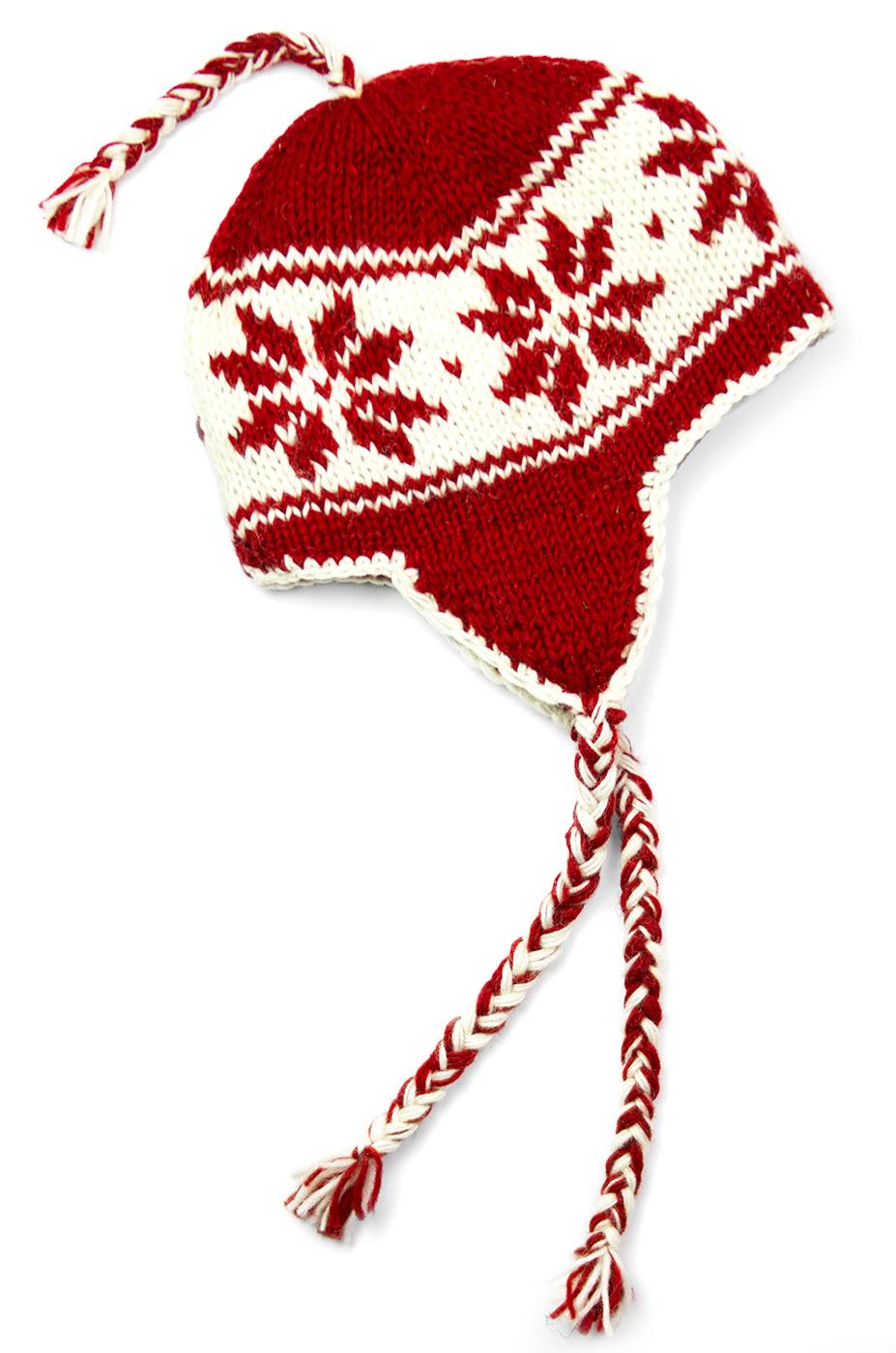 Wool Snowflake Sherpa Hats
