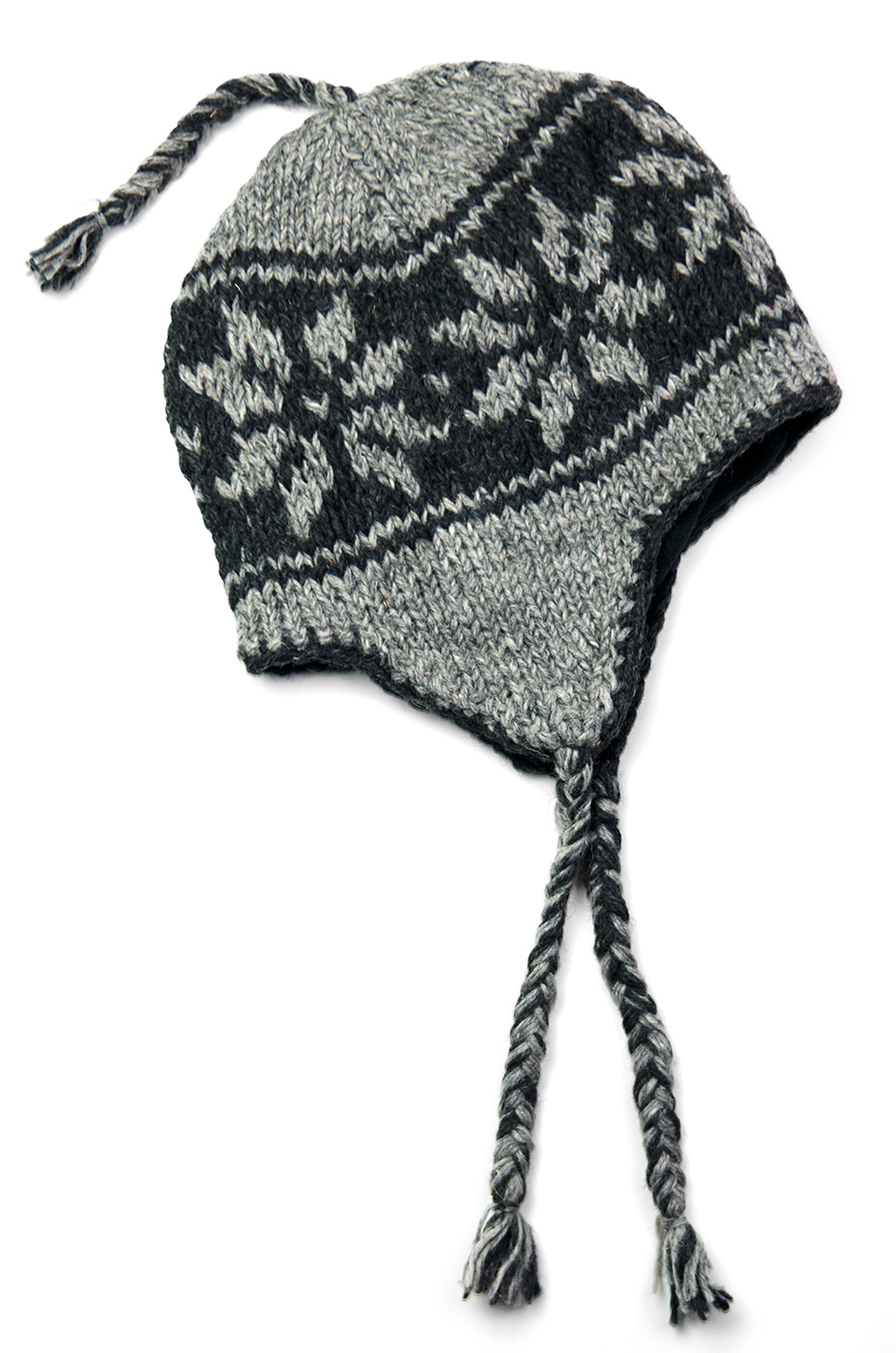 Grey Snowflake Hat