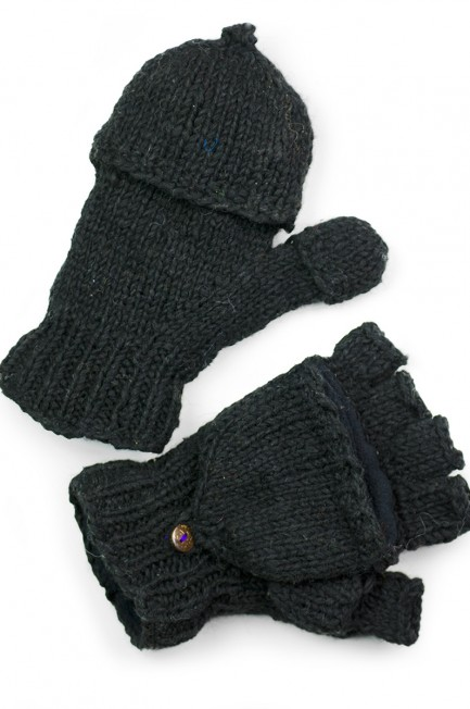 Wool Solid Glittens