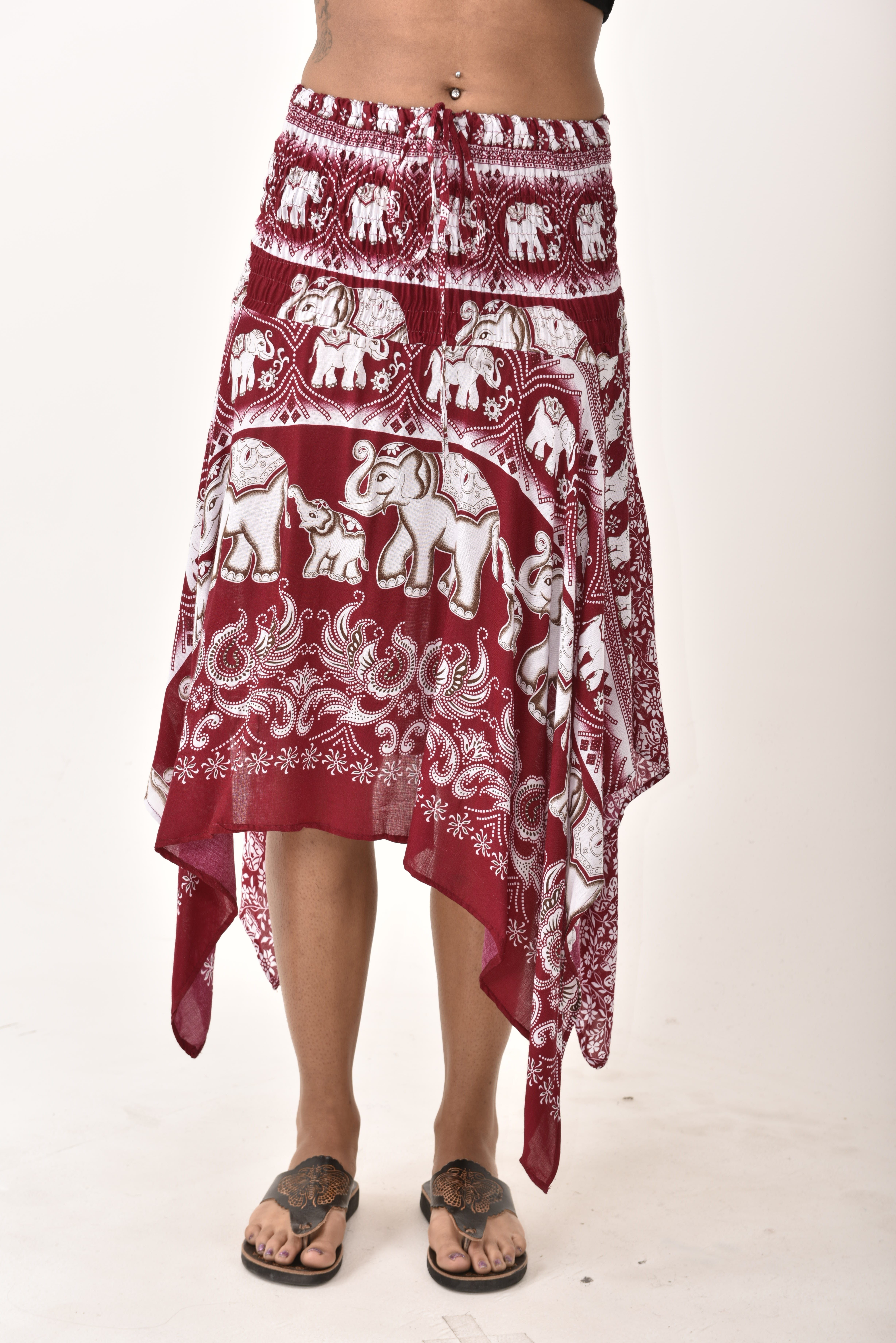 Elephant Print Fairy Dress / Skirt Red