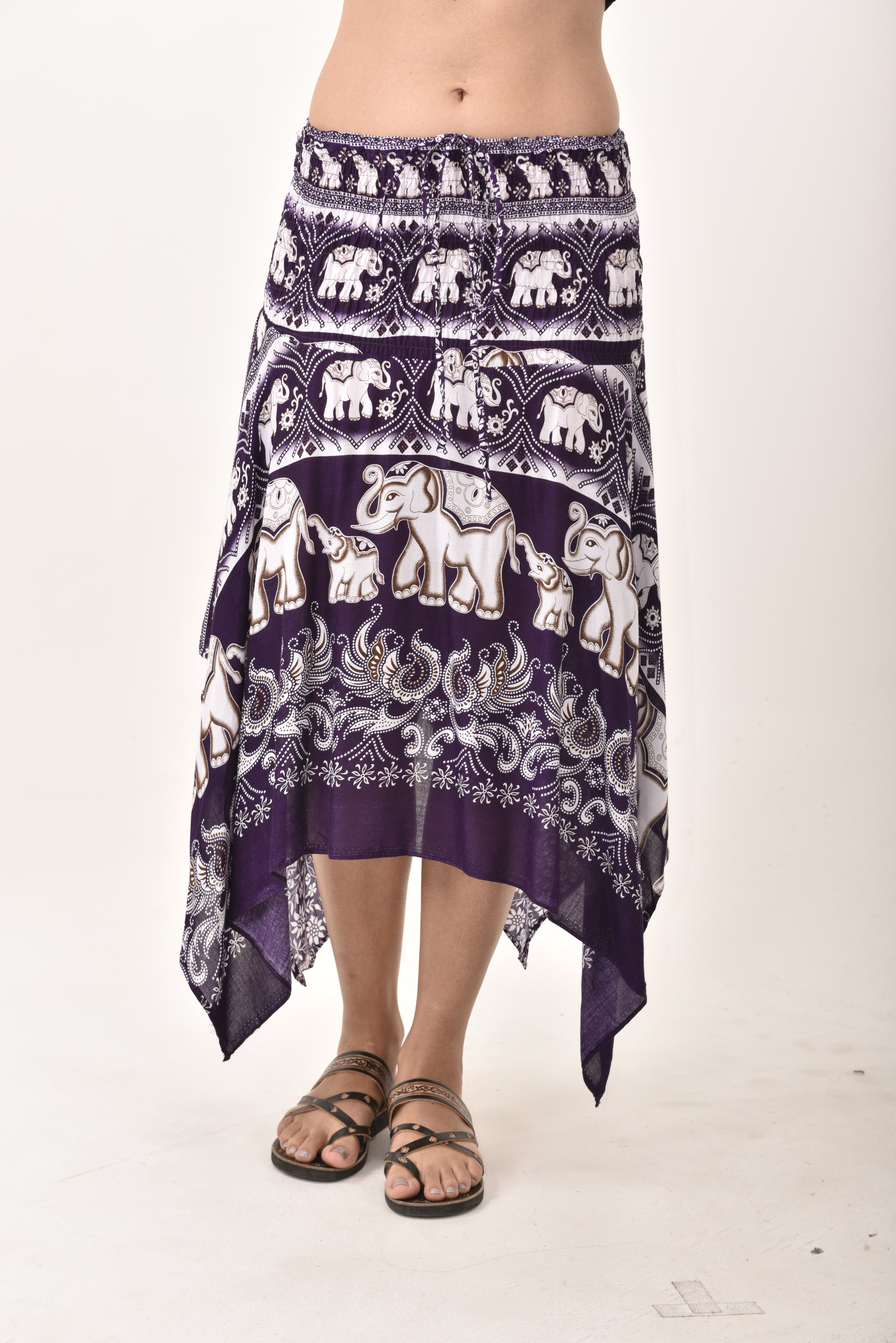 Elephant Print Fairy Dress / Skirt Purple