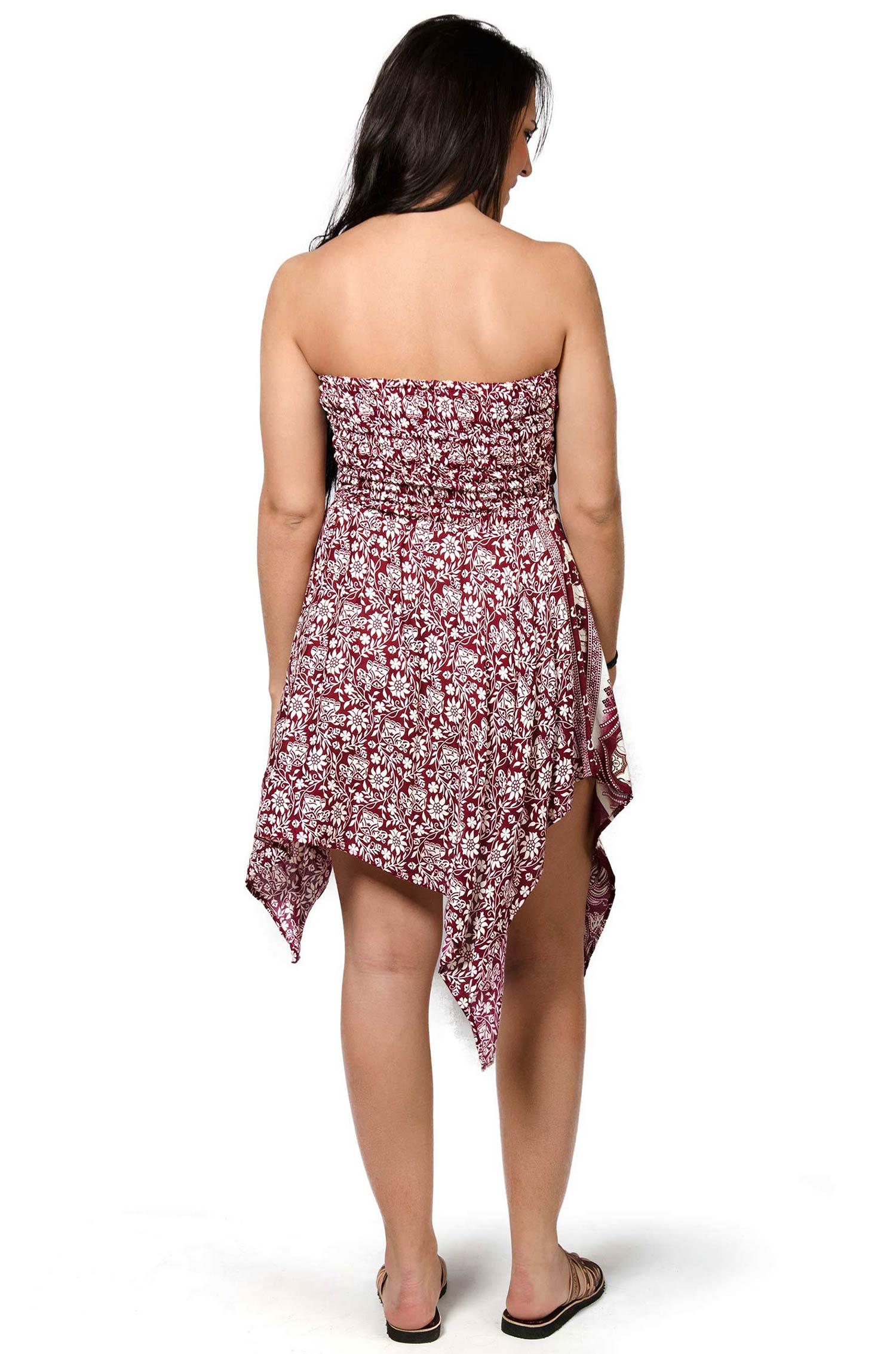 Elephant Print Convertible Fairy Dress - Skirt - Red