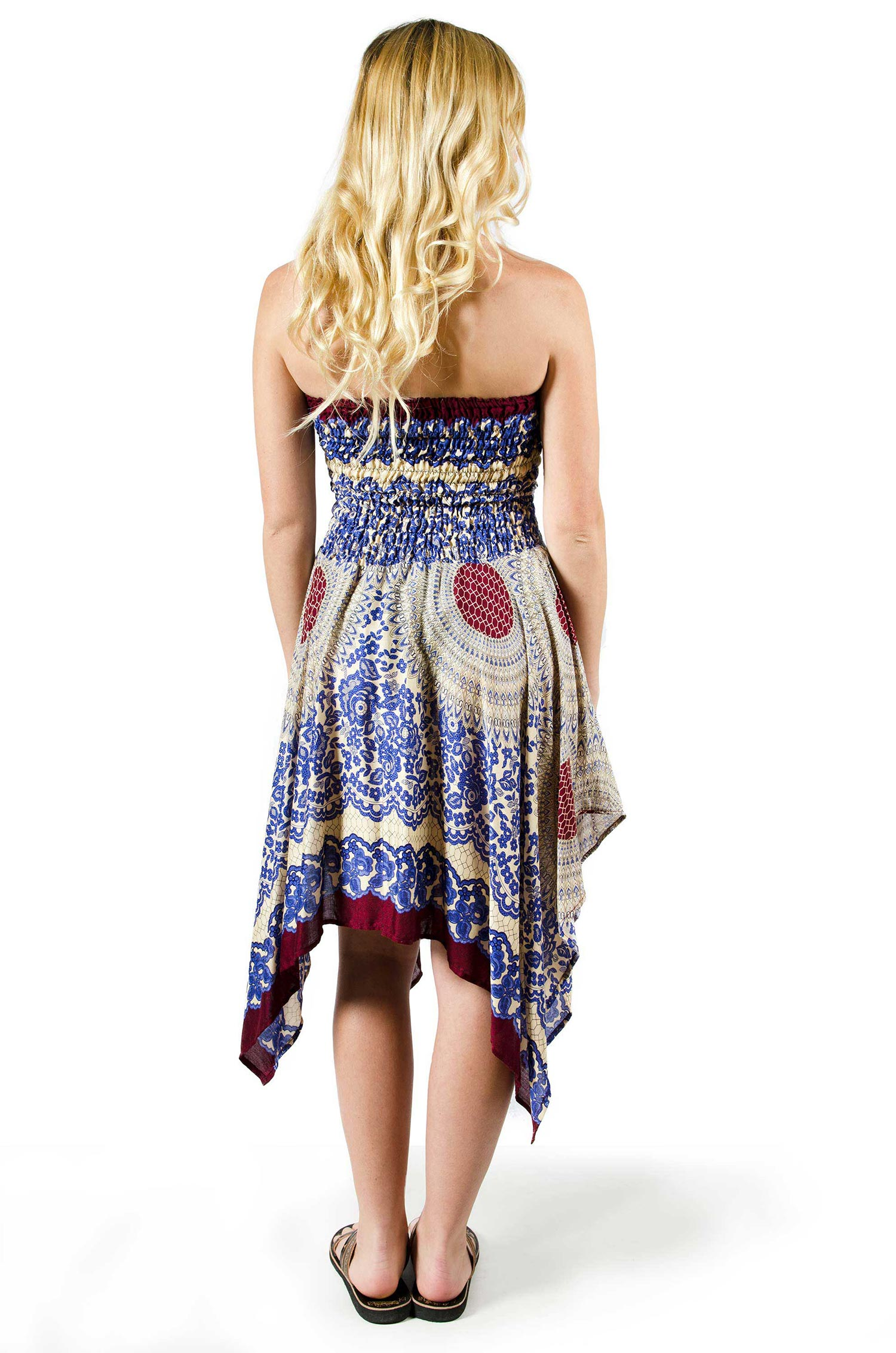 Convertible Print Fairy Dress / Skirt - Blue - 3135B