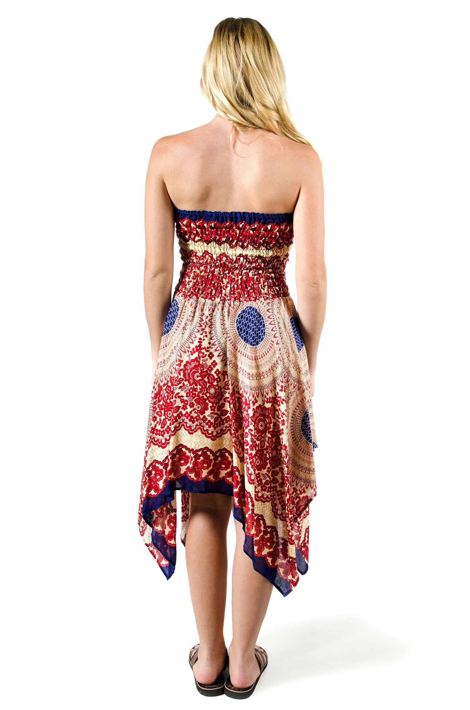 Convertible Print Fairy Dress / Skirt - Red - 3135R