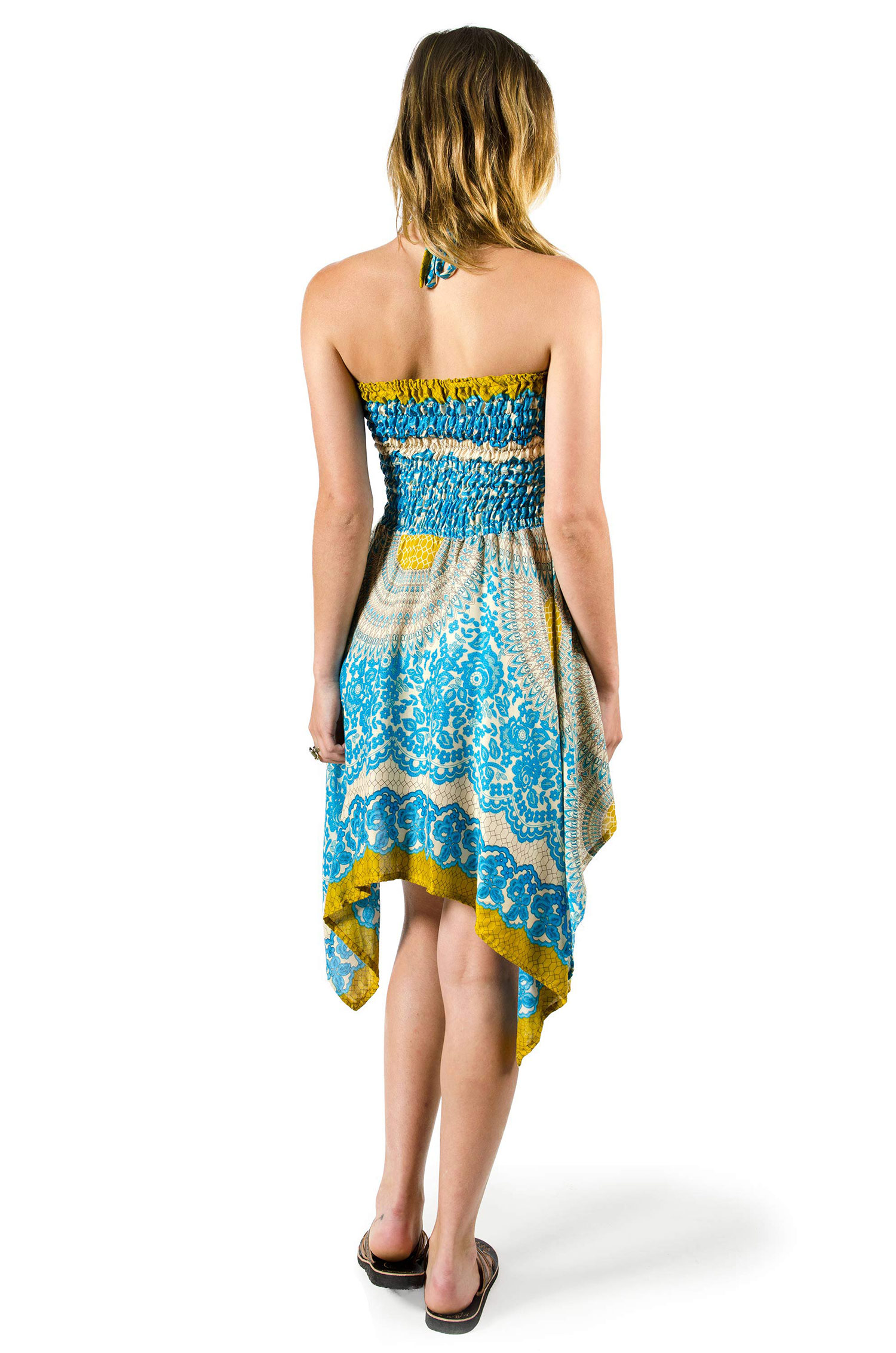 Convertible Print Fairy Dress / Skirt - Teal - 3135T
