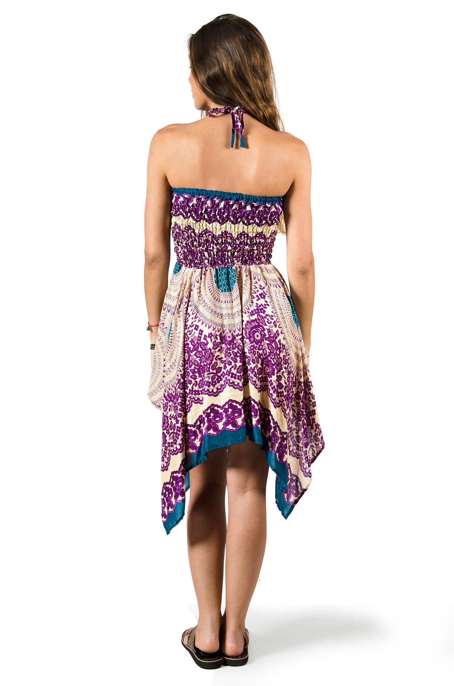 Convertible Print Fairy Dress / Skirt - Purple - 3135U