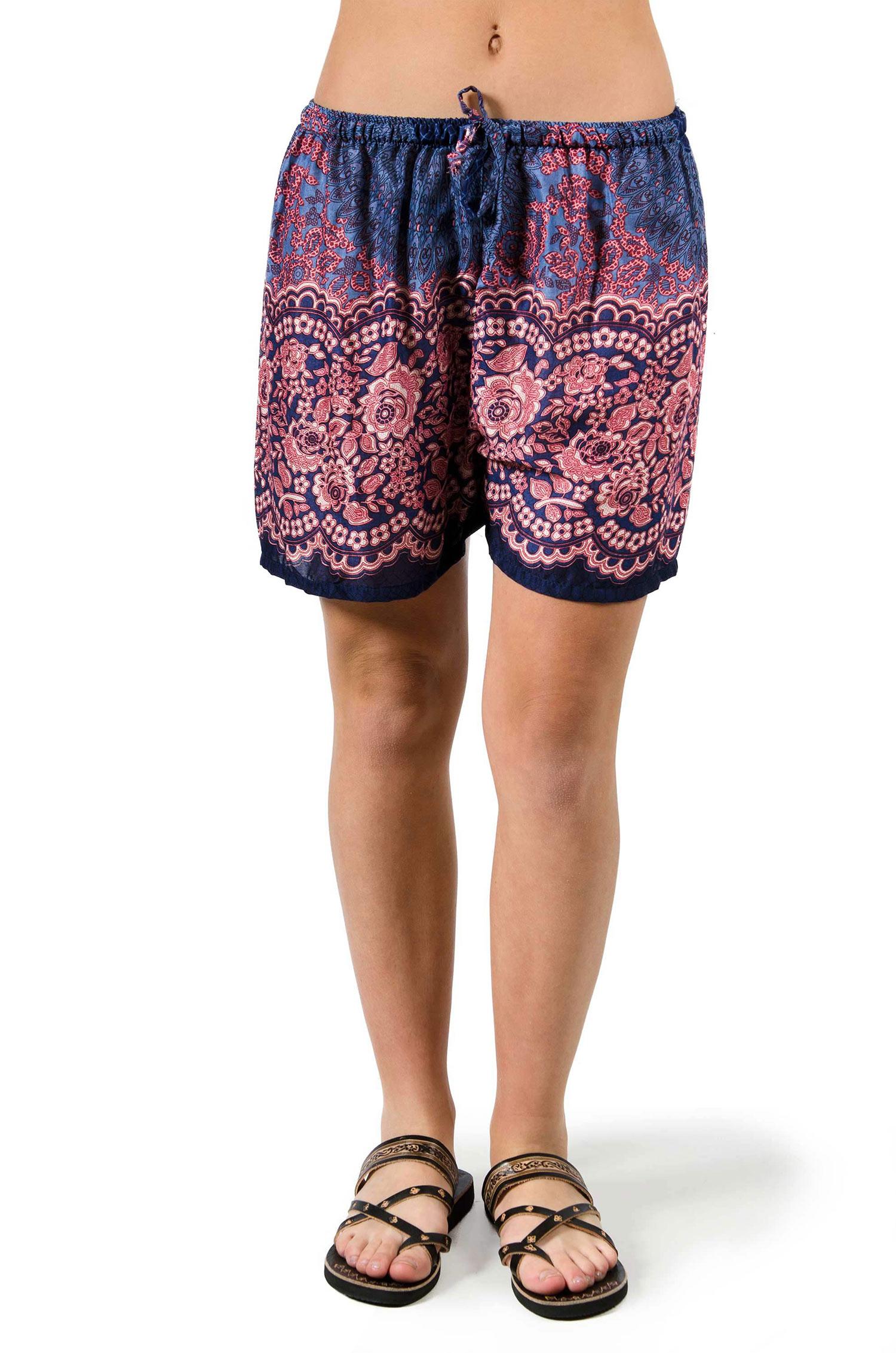 Print Shorts - Blue - 3541B
