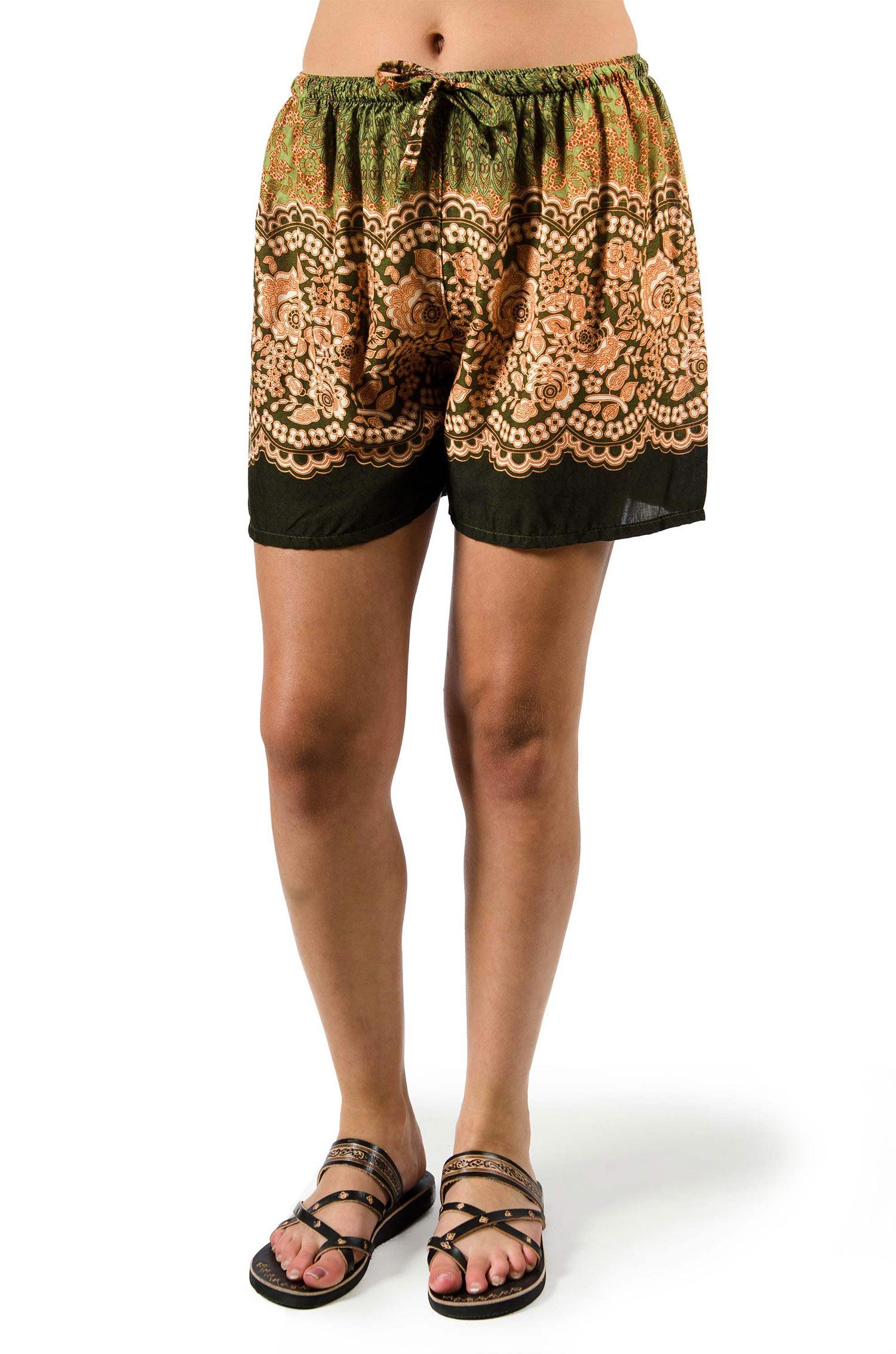 Print Shorts - Olive - 3541G
