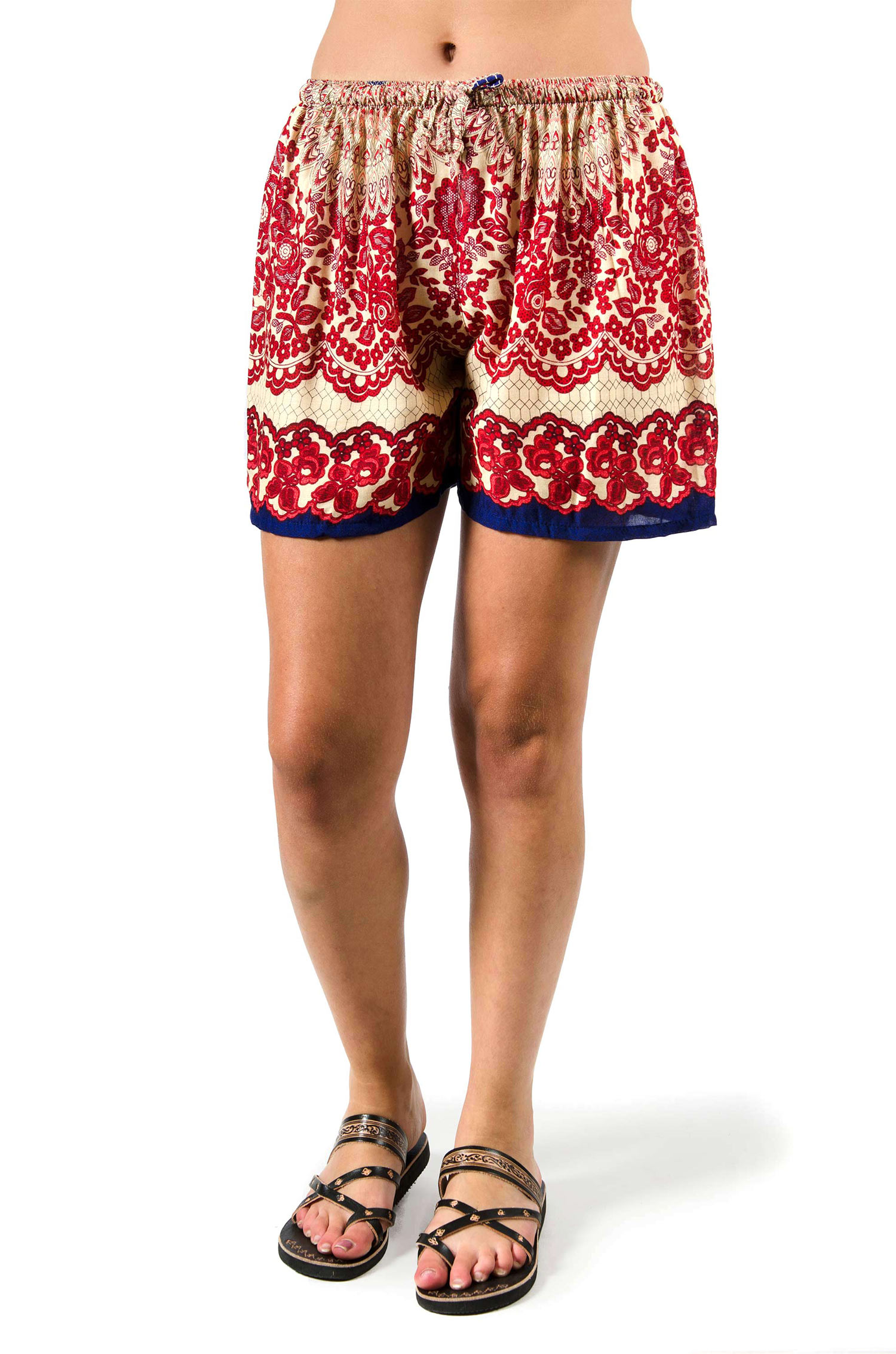 Print Shorts - Red - 3541R