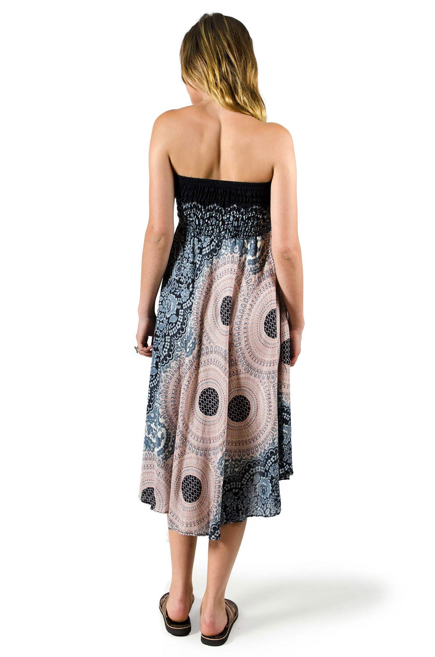 Honeycomb Print Dress / Skirt Grey