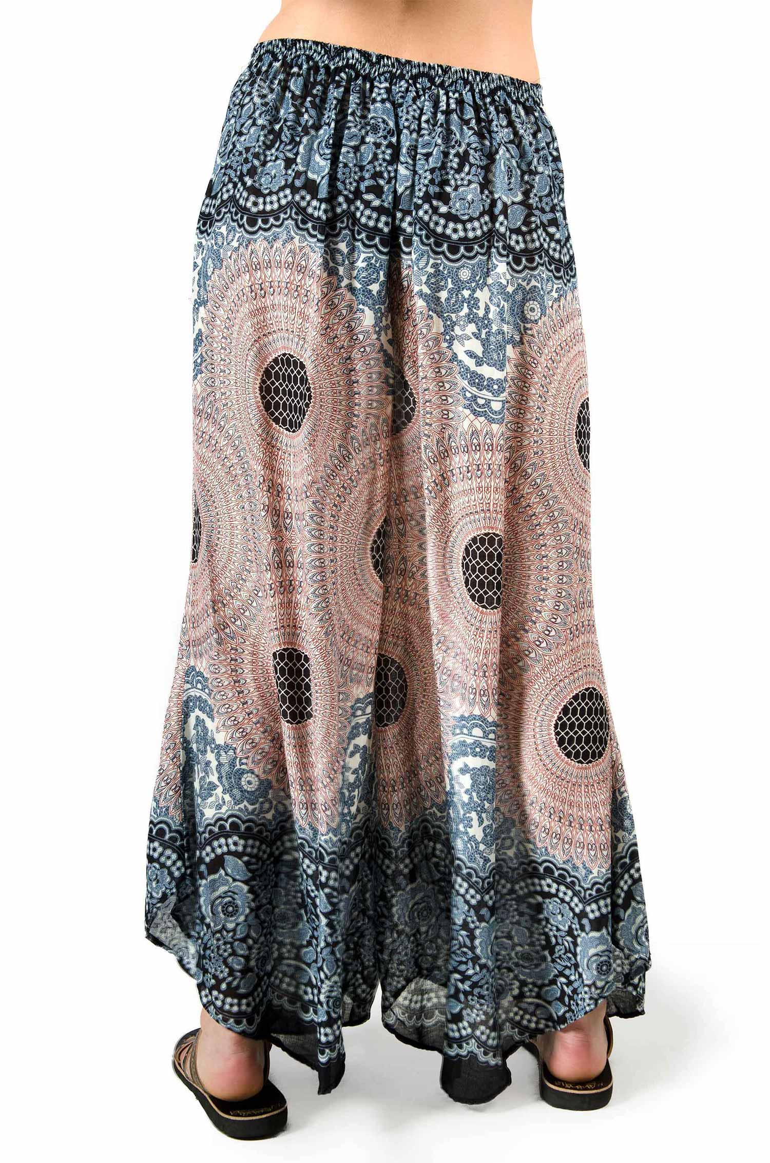 Wide Leg Print Pants - Tan - Multi 3669T