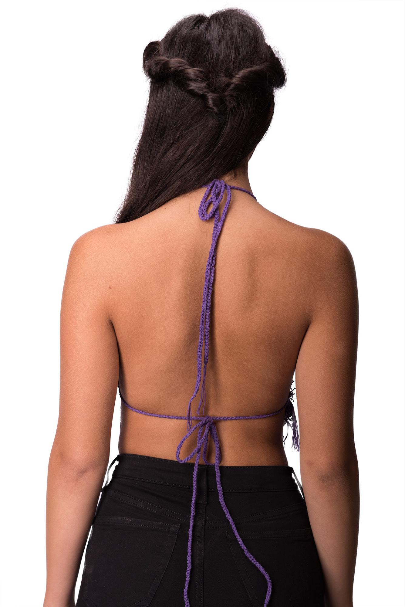 Crochet Top, Purple - 4474U