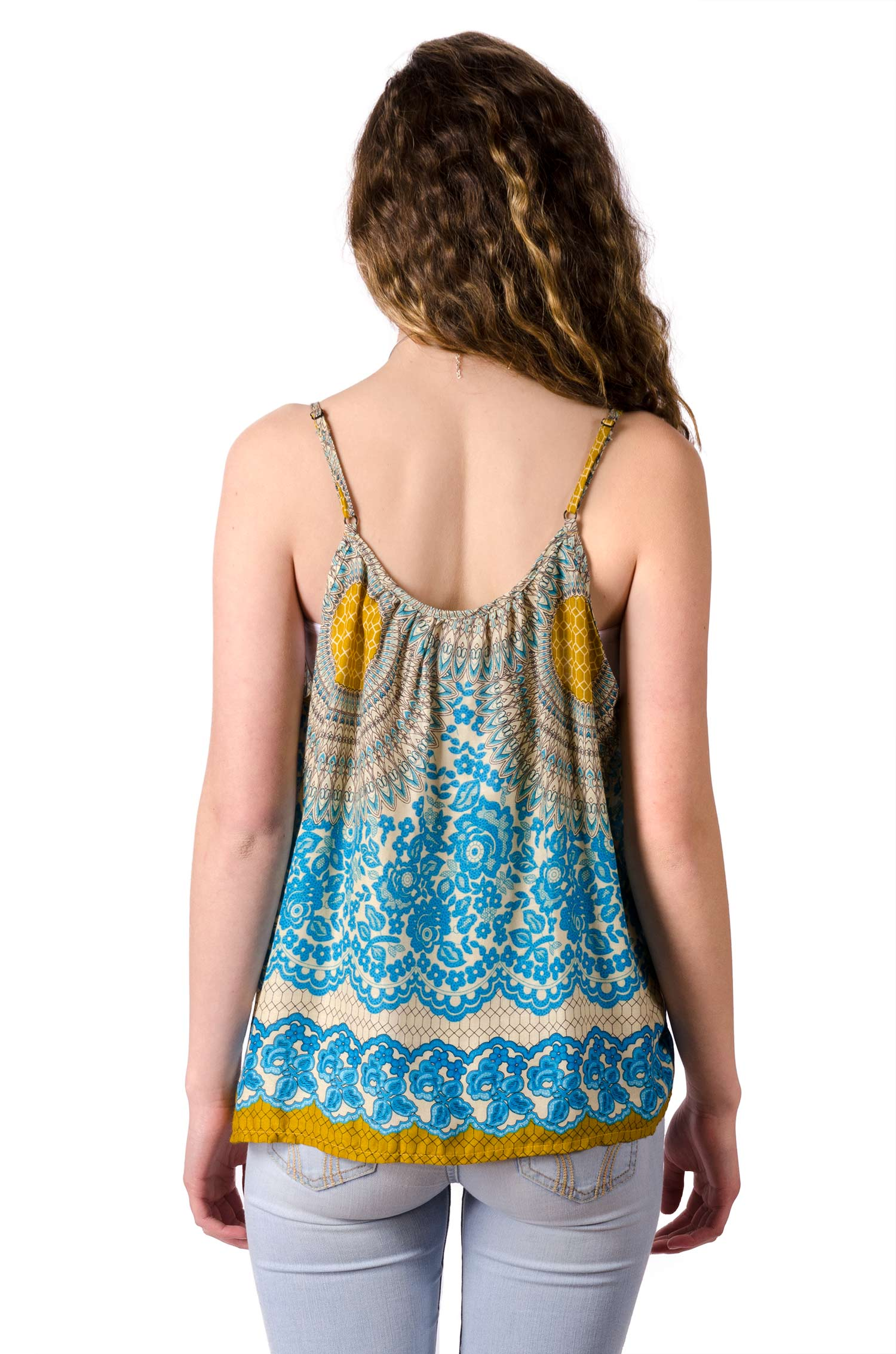 Print Cami Top - Teal Multi - 4483T