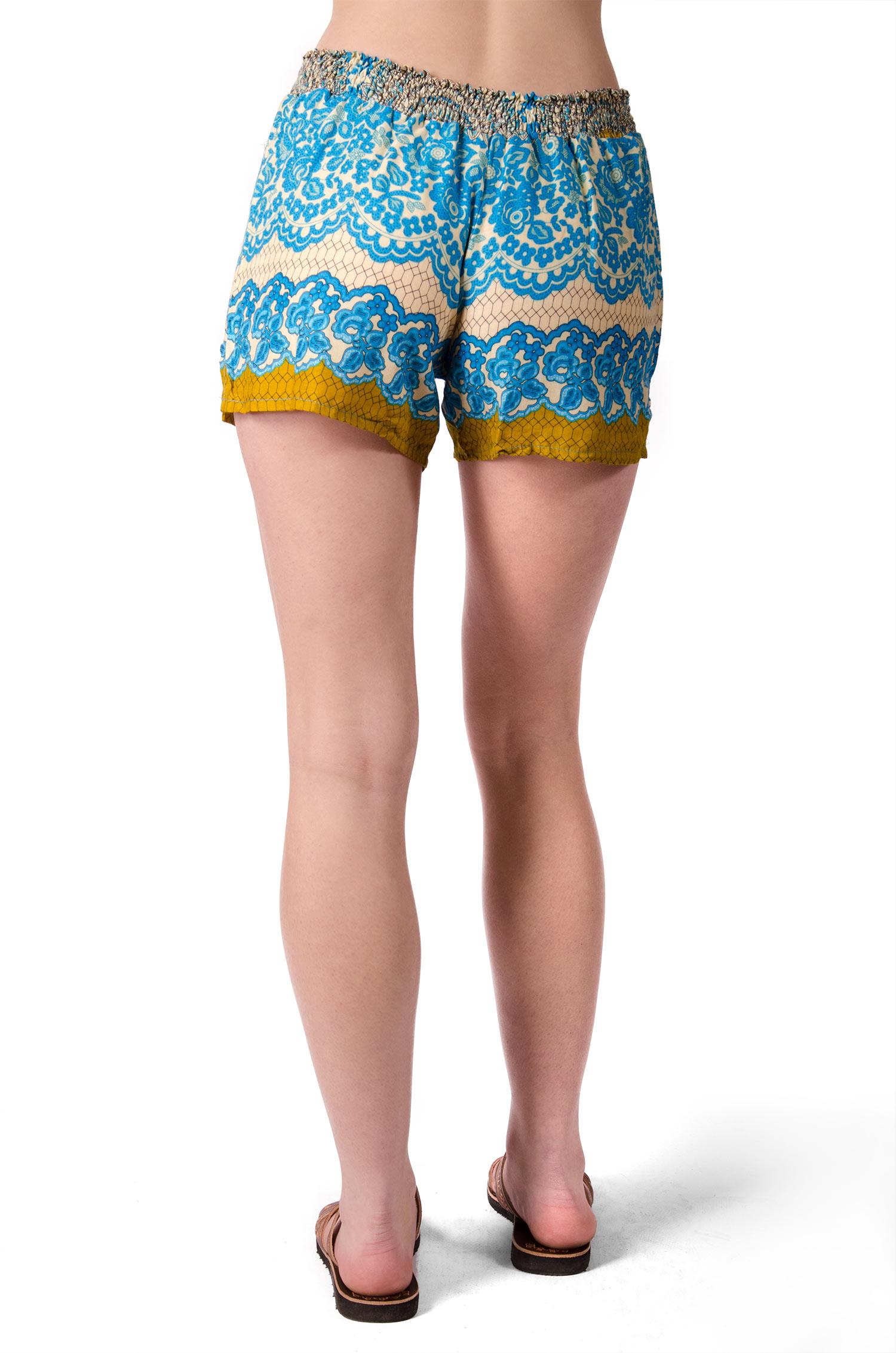 Print Mini Shorts - Blue Multi - 4487B