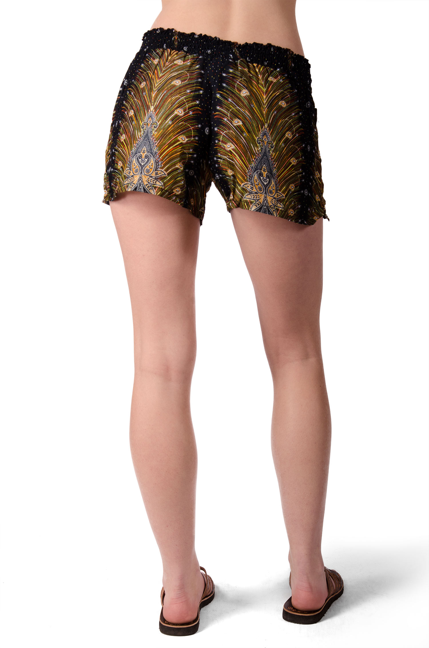 Print Mini Shorts - Black Multi - 4487K