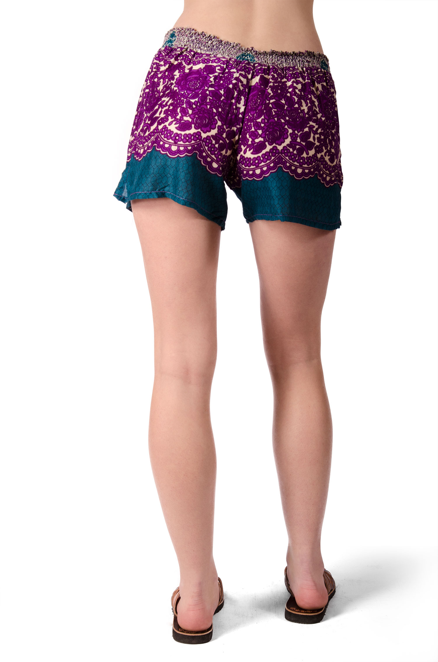 Print Mini Shorts - Purple Multi - 4487U